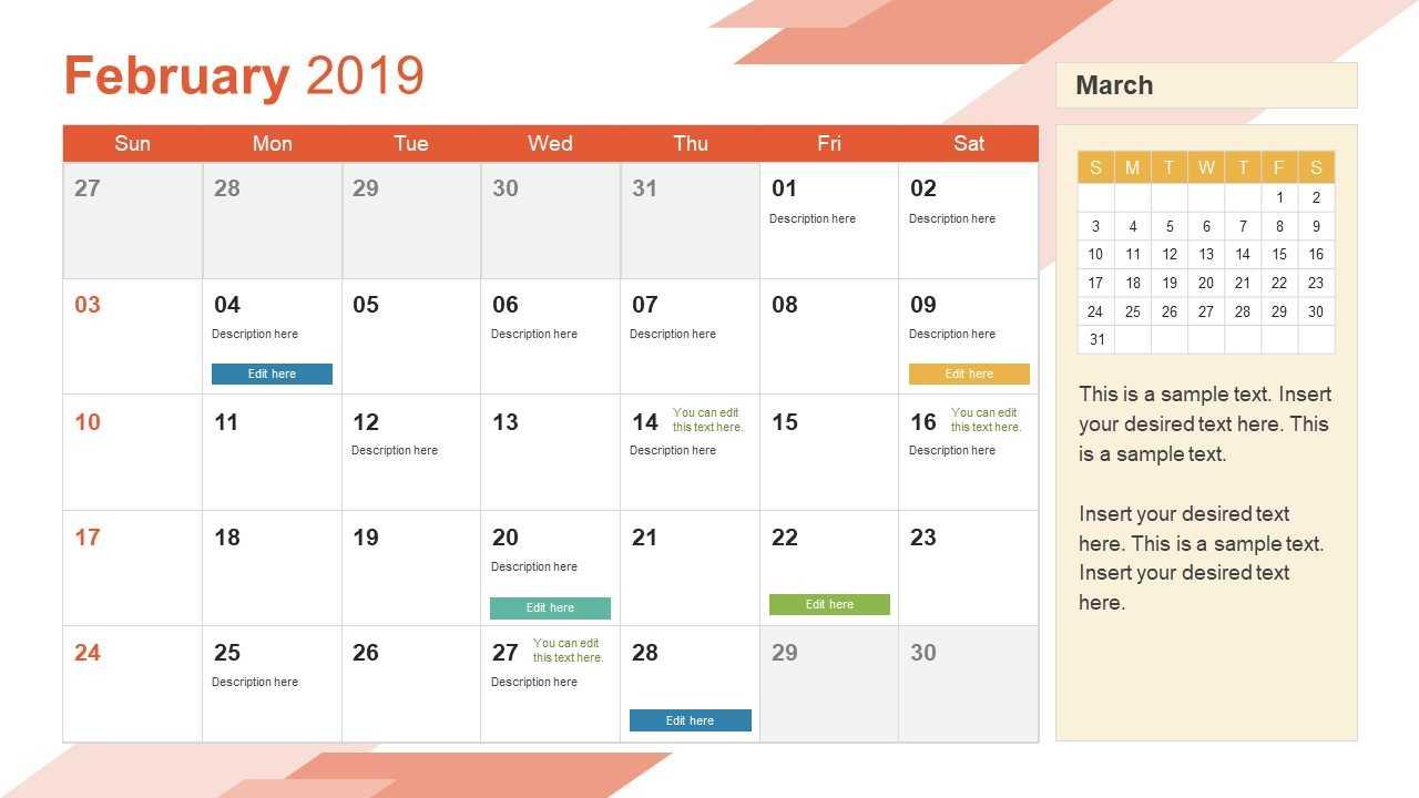 001 Calendar Powerpoint Template 16X9 Power Point Templates For Microsoft Powerpoint Calendar Template