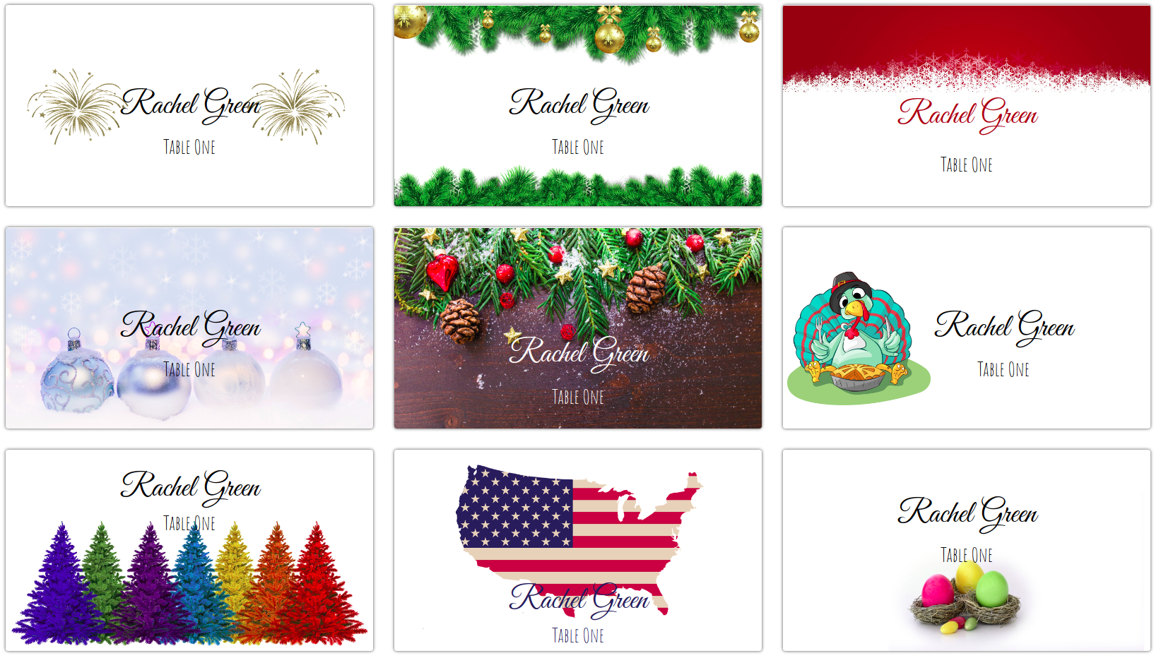 001 Christmas Table Name Place Cards Template Ideas Within Christmas Table Place Cards Template