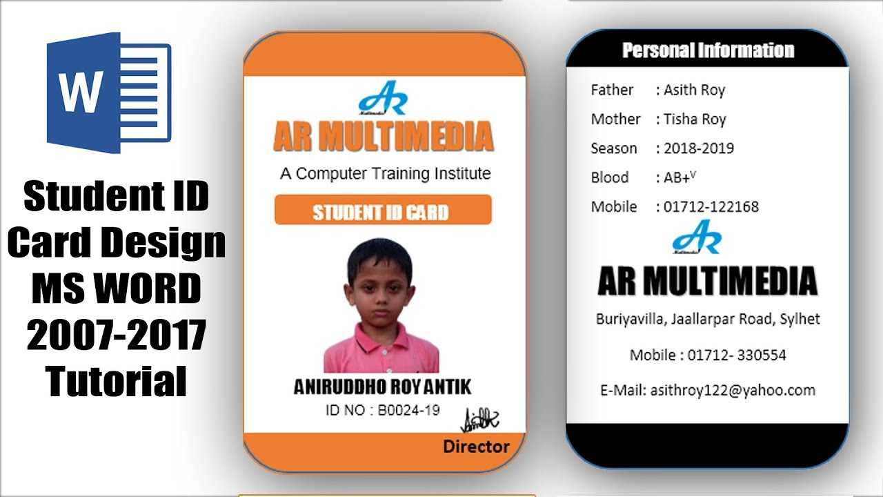 001 Employee Id Card Template Microsoft Word Free Download Pertaining To Employee Card Template Word