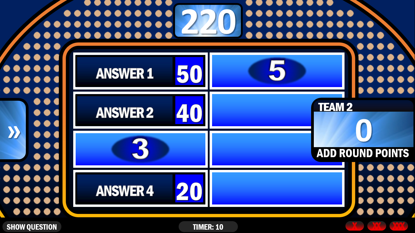001 Family Feud Game Template Unforgettable Ideas Download For Family Feud Game Template Powerpoint Free