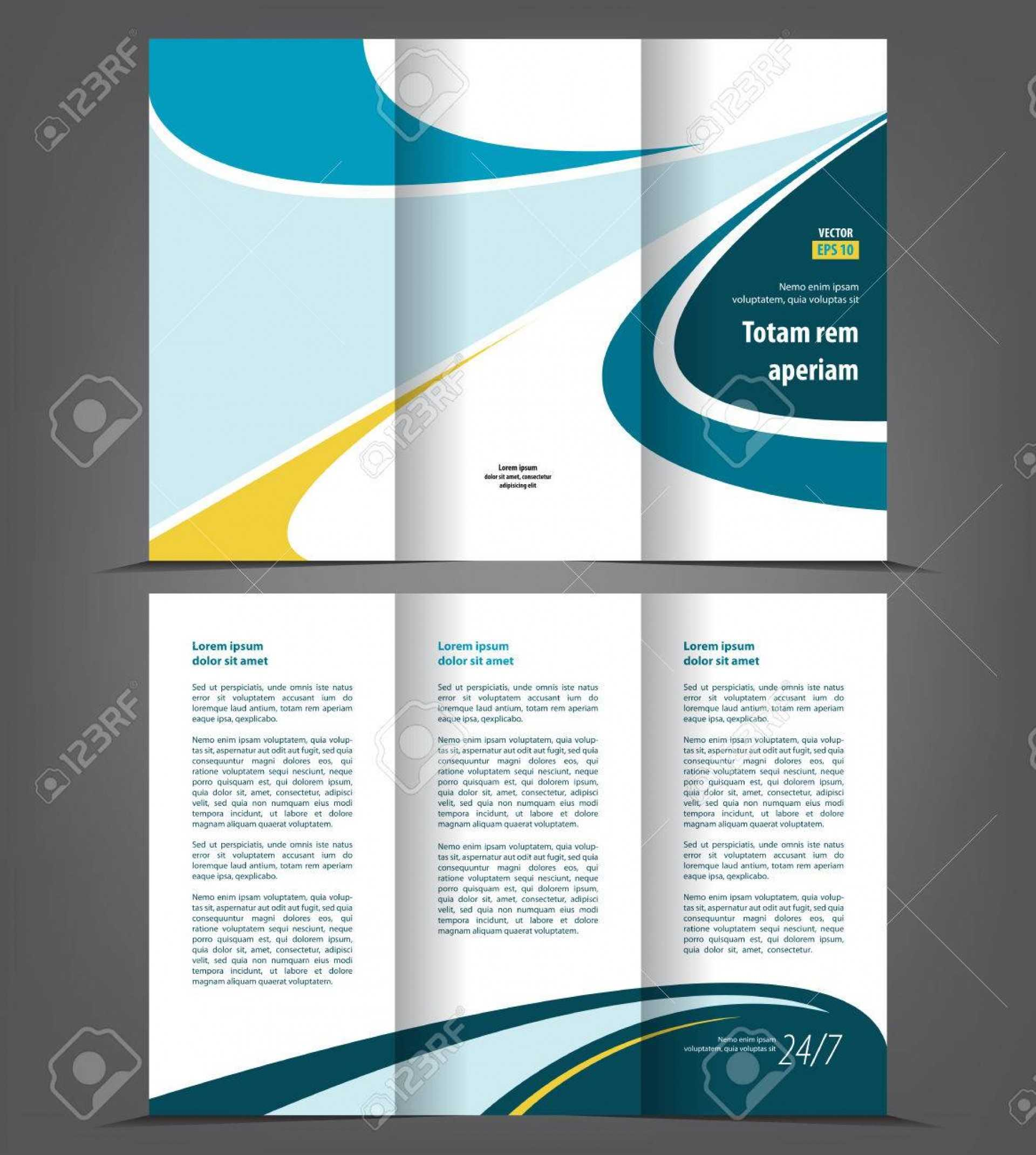 001 Fold Brochure Templates Professional Corporate Tri Free With 3 Fold Brochure Template Free Download