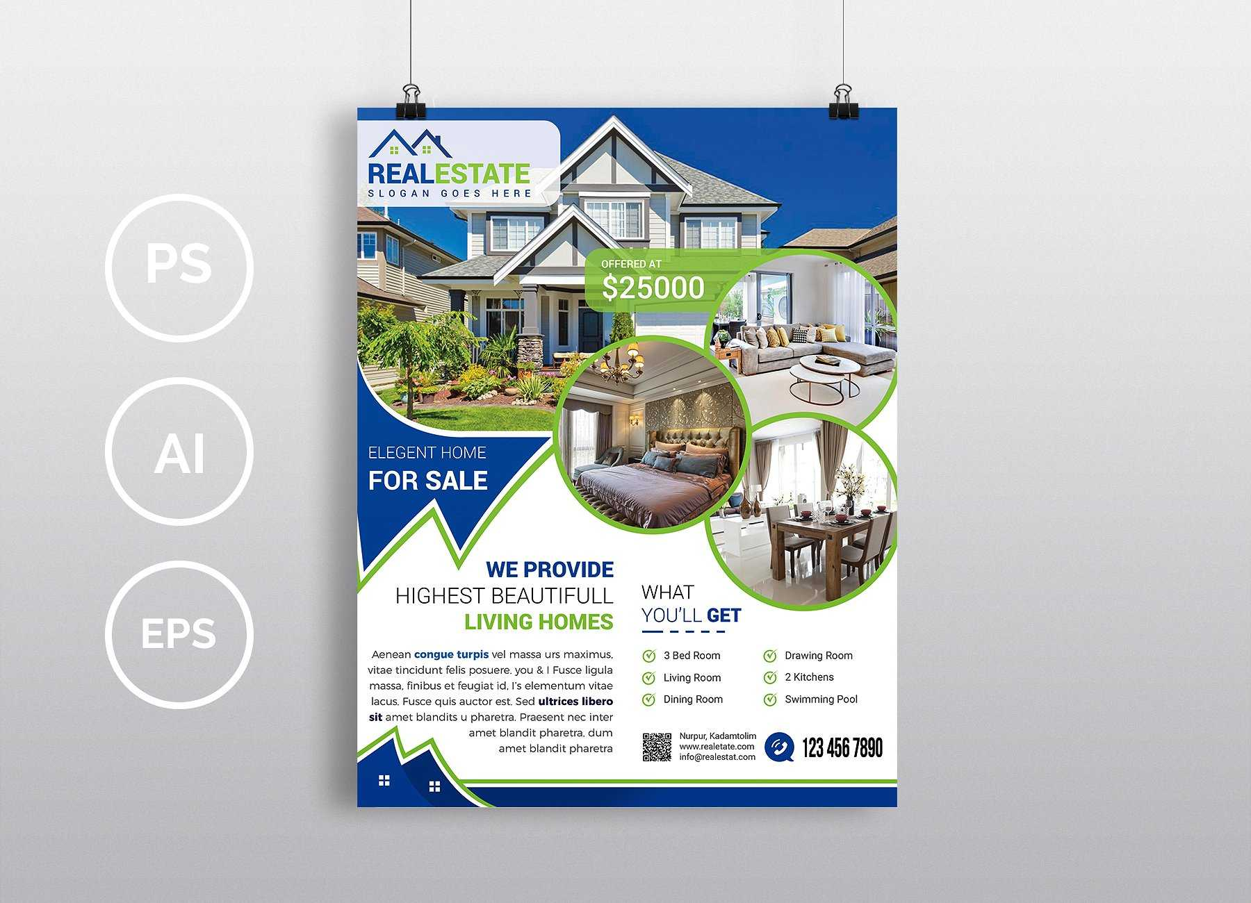 001 Real Estate Flyer Template Psd Free Download Design With Regard To Real Estate Brochure Templates Psd Free Download