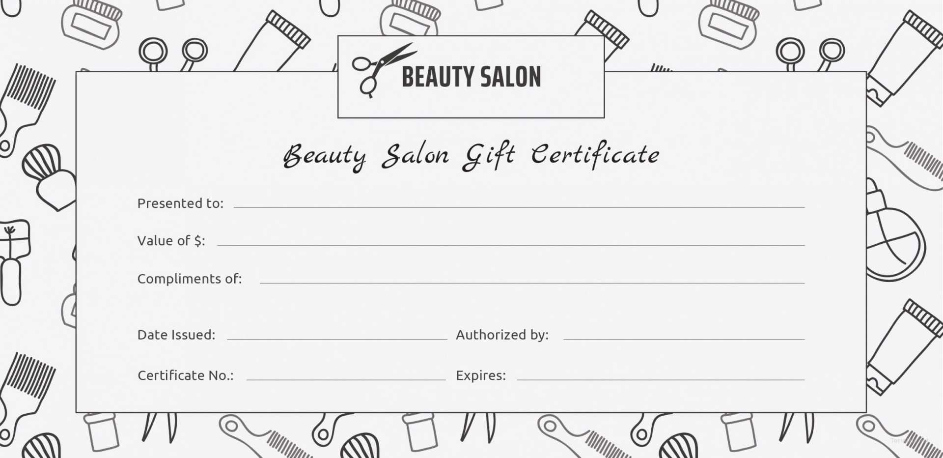 001 Salon Gift Certificate Templates Free Printable Hair With Salon Gift Certificate Template