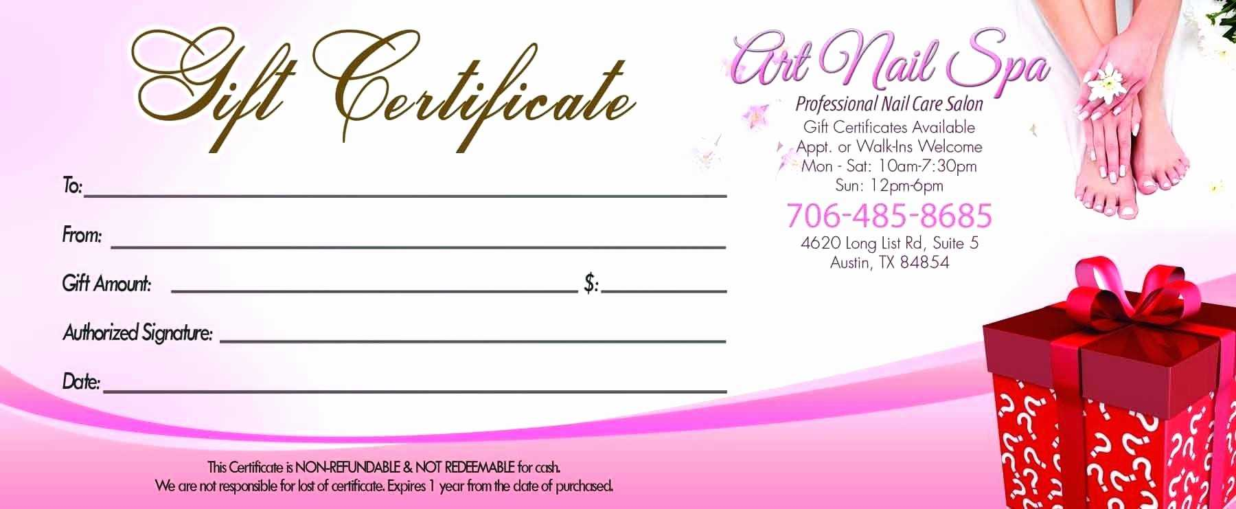001 Salon Gift Certificate Templates Free Printable Hair Within Nail Gift Certificate Template Free