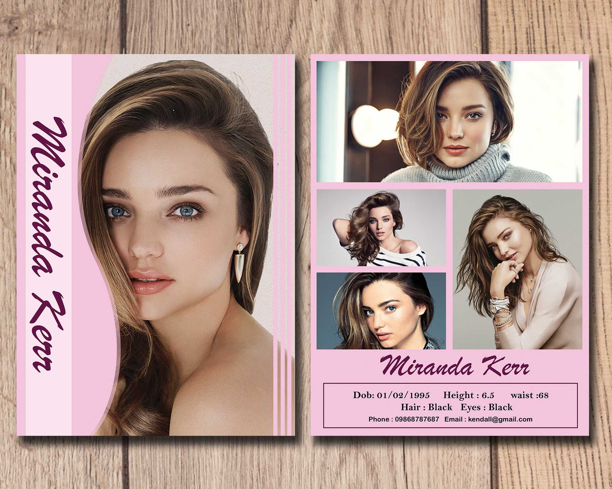 001 Template Ideas Model Comp Card Outstanding Psd Free Within Free Model Comp Card Template