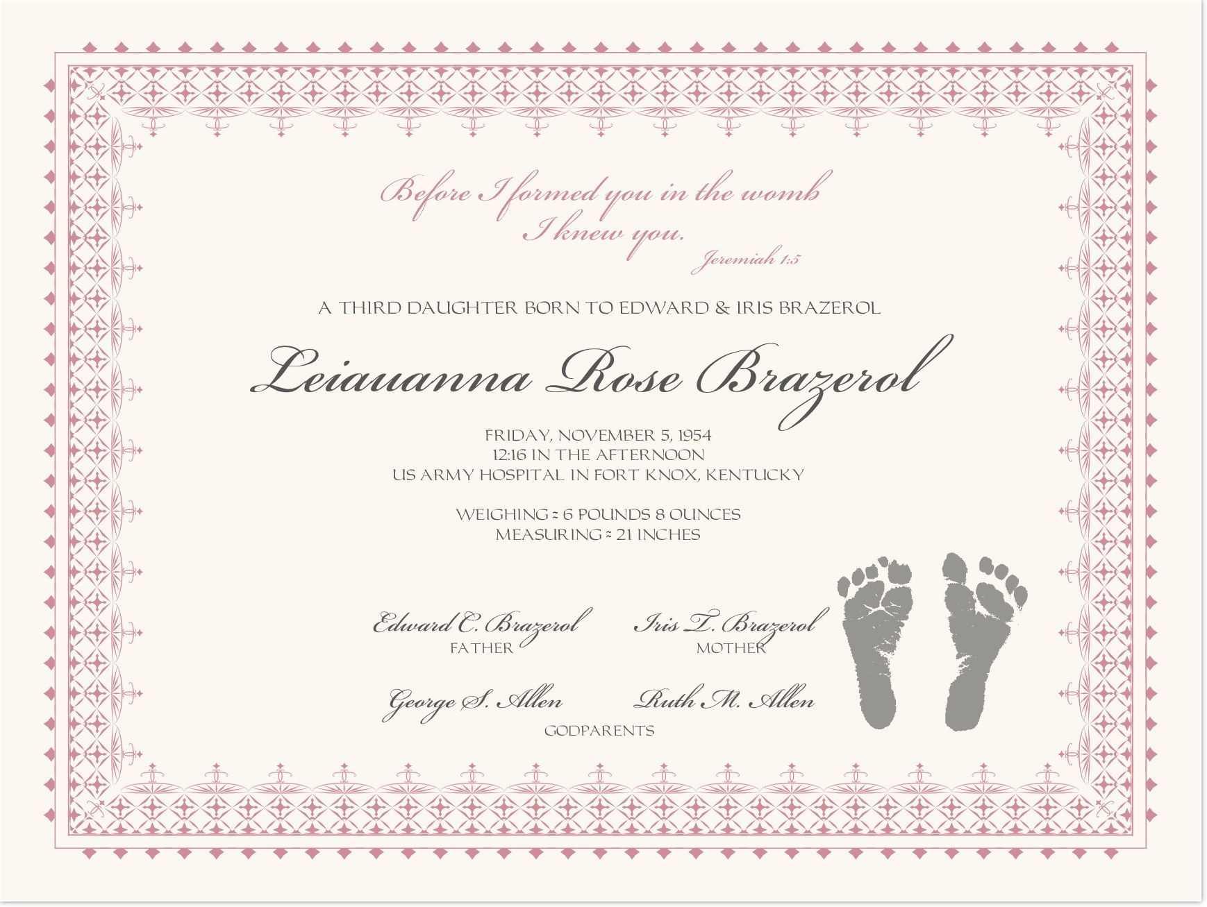 002 Baby Dedication Certificate Template Ideas Wonderful For Baby Christening Certificate Template
