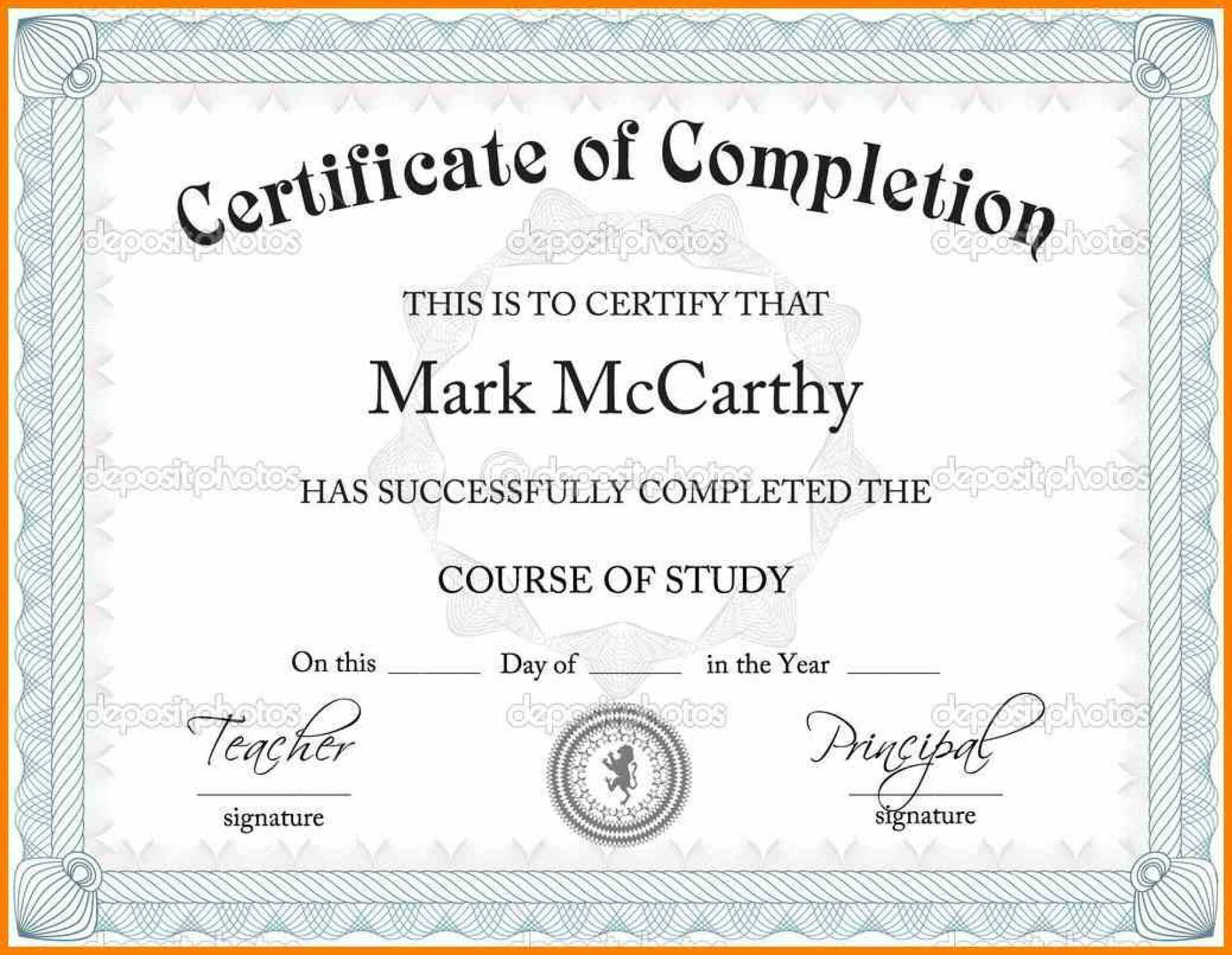 002 Certificate Templates Free Download With Regard To Powerpoint Certificate Templates Free Download