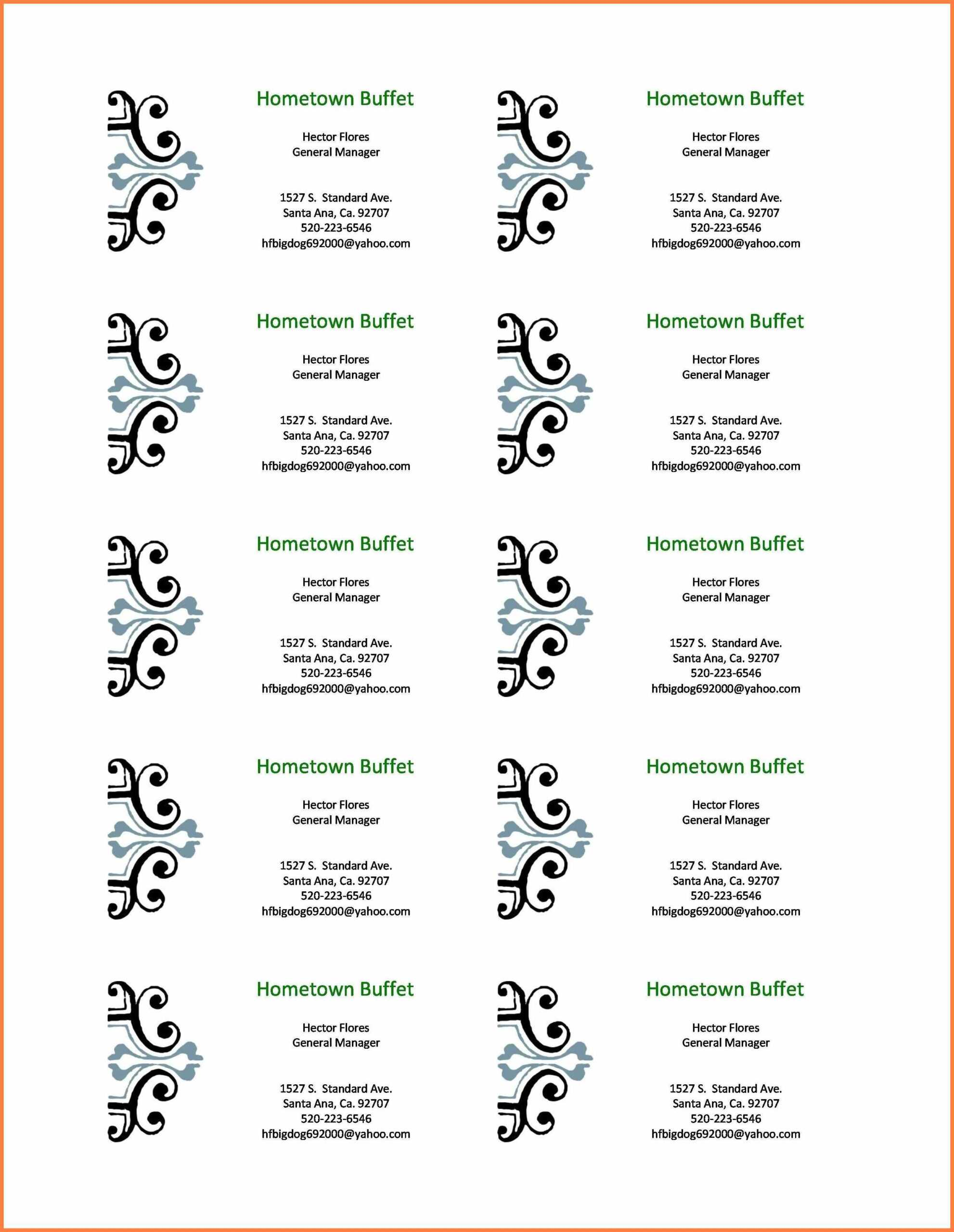 002 Microsoft Word Business Card Template Free Cards In Free Business Cards Templates For Word