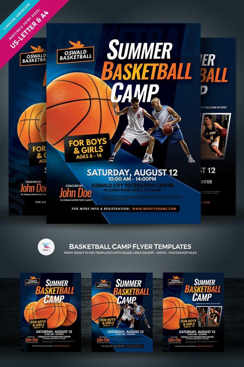 002 Original Basketball Camp Brochure Template Free With Basketball Camp Brochure Template