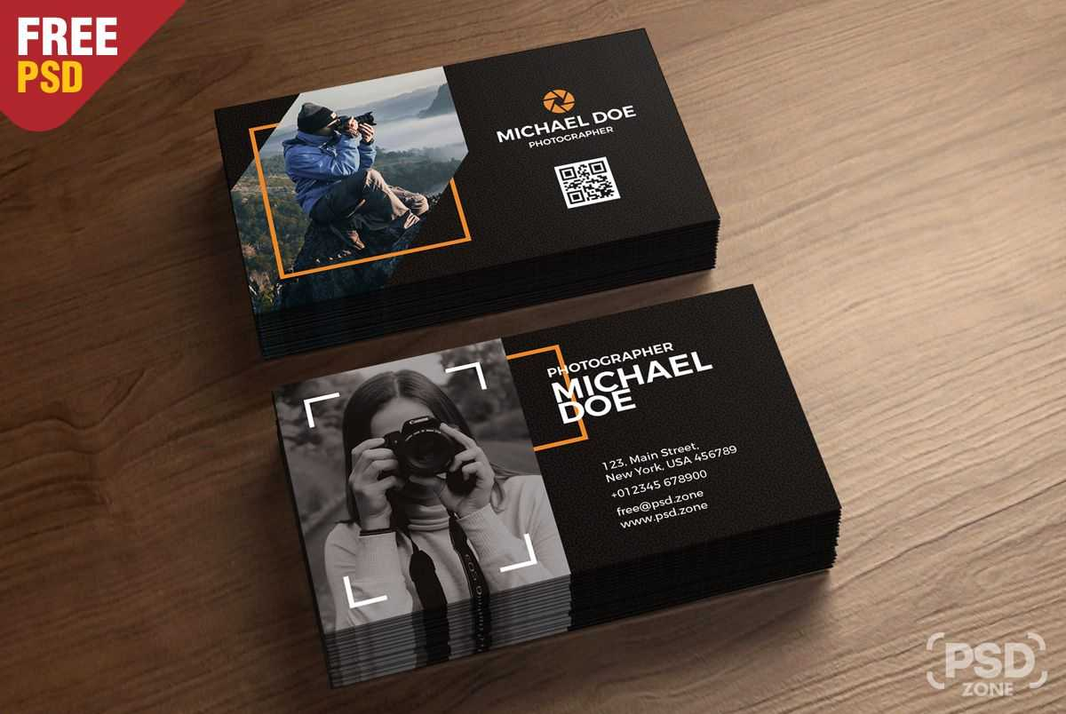 002 Photographer Business Card Template Psd Free Beautiful Inside Photography Business Card Template Photoshop