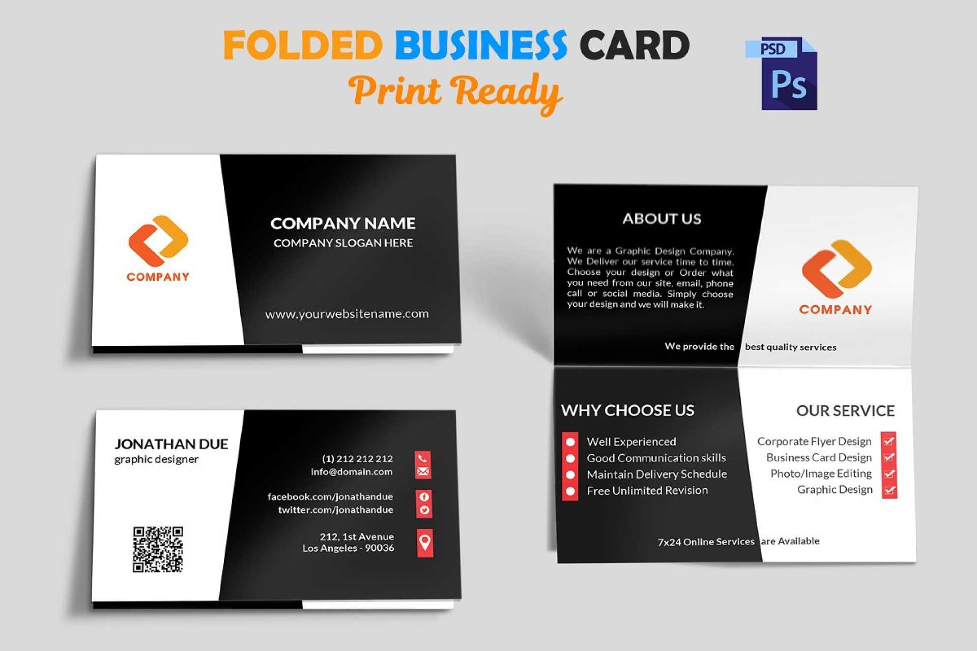 002 Template Ideas Folded Business Card Mock Up Fascinating With Fold Over Business Card Template