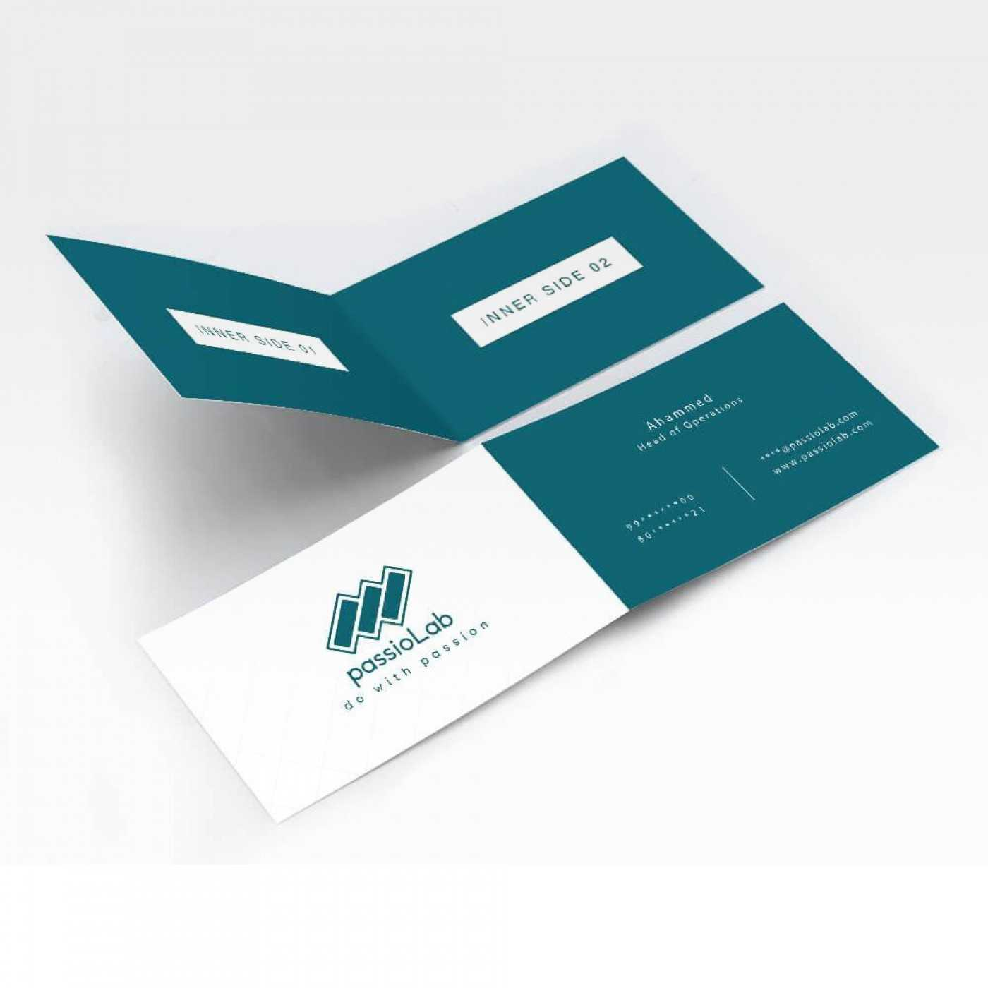 002 Template Ideas Folded Business Card Mock Up Fascinating With Regard To Fold Over Business Card Template
