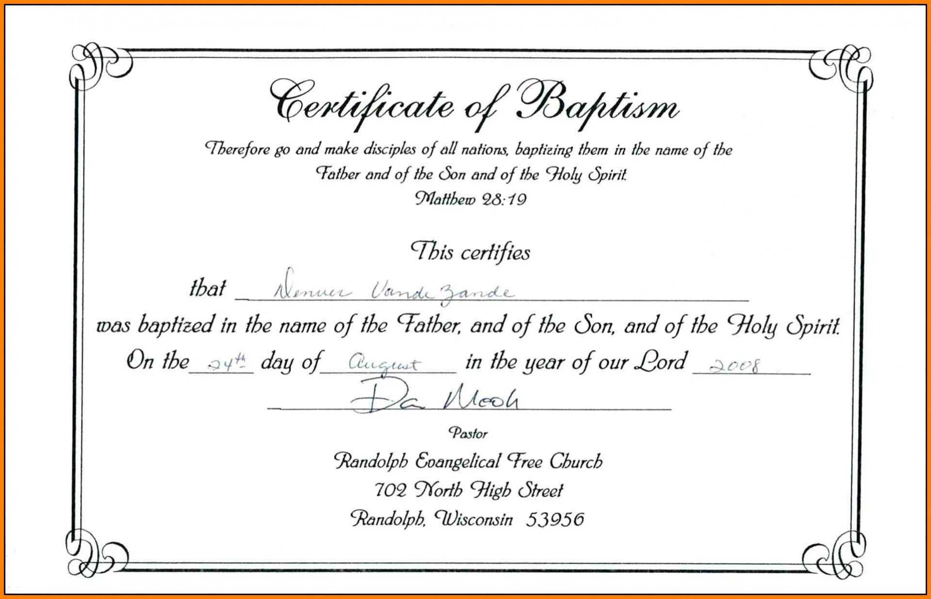 003 Certificate Of Baptism Template Ideas Unique Catholic Intended For Roman Catholic Baptism Certificate Template
