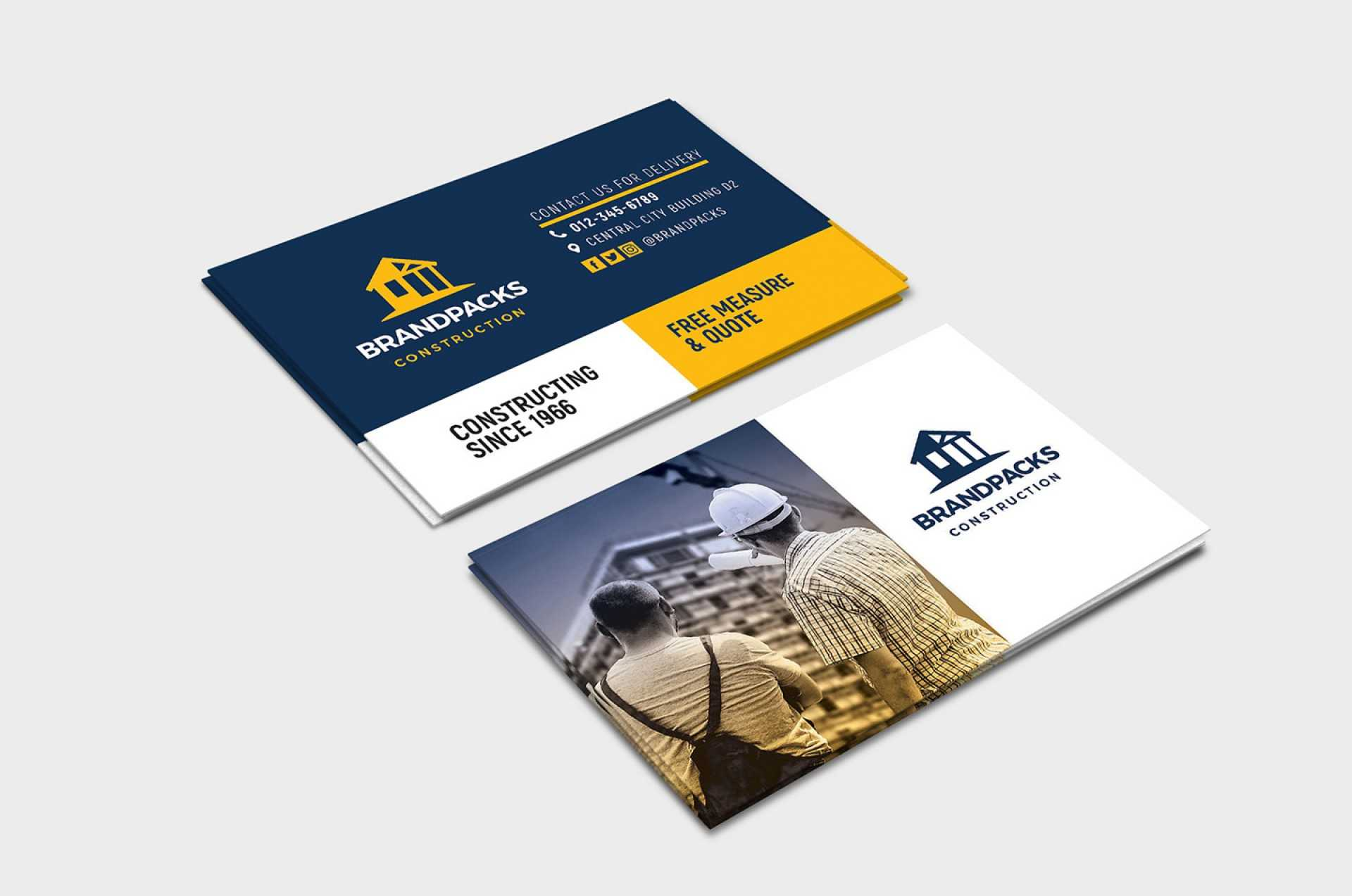 003 Construction Business Card Templates Template With Construction Business Card Templates Download Free