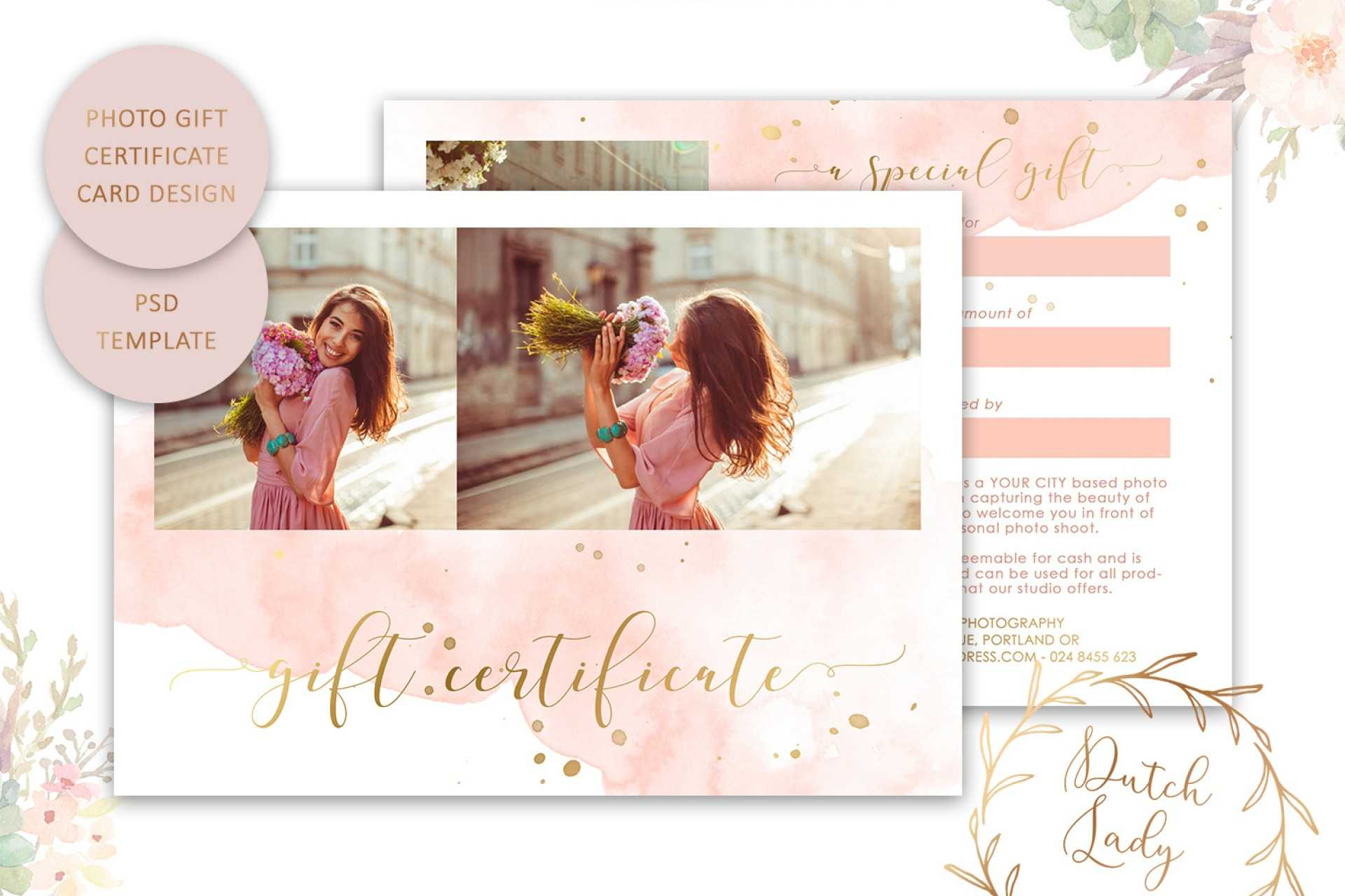 003 Photo Session Gift Certificate Template Free Impressive With Photoshoot Gift Certificate Template