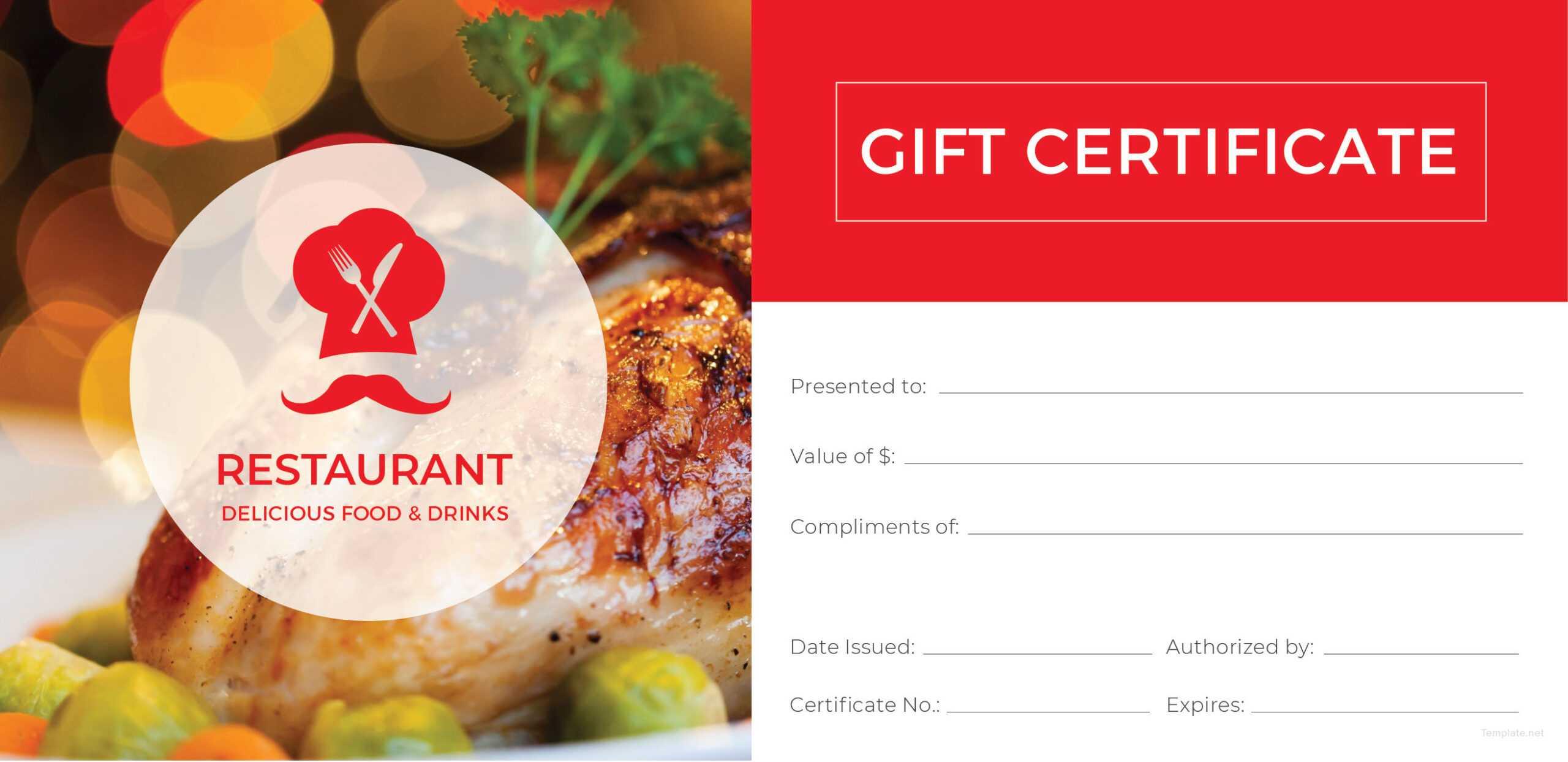 003 Restaurant Gift Certificates Templates Template Ideas With Regard To Restaurant Gift Certificate Template