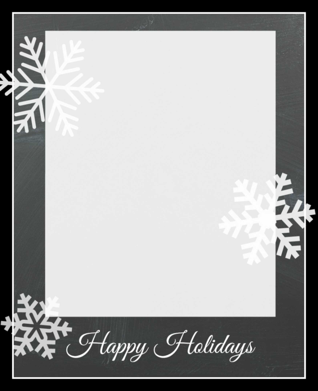 003 Snowflakecard3 Free Holiday Card Templates Template Intended For Free Holiday Photo Card Templates