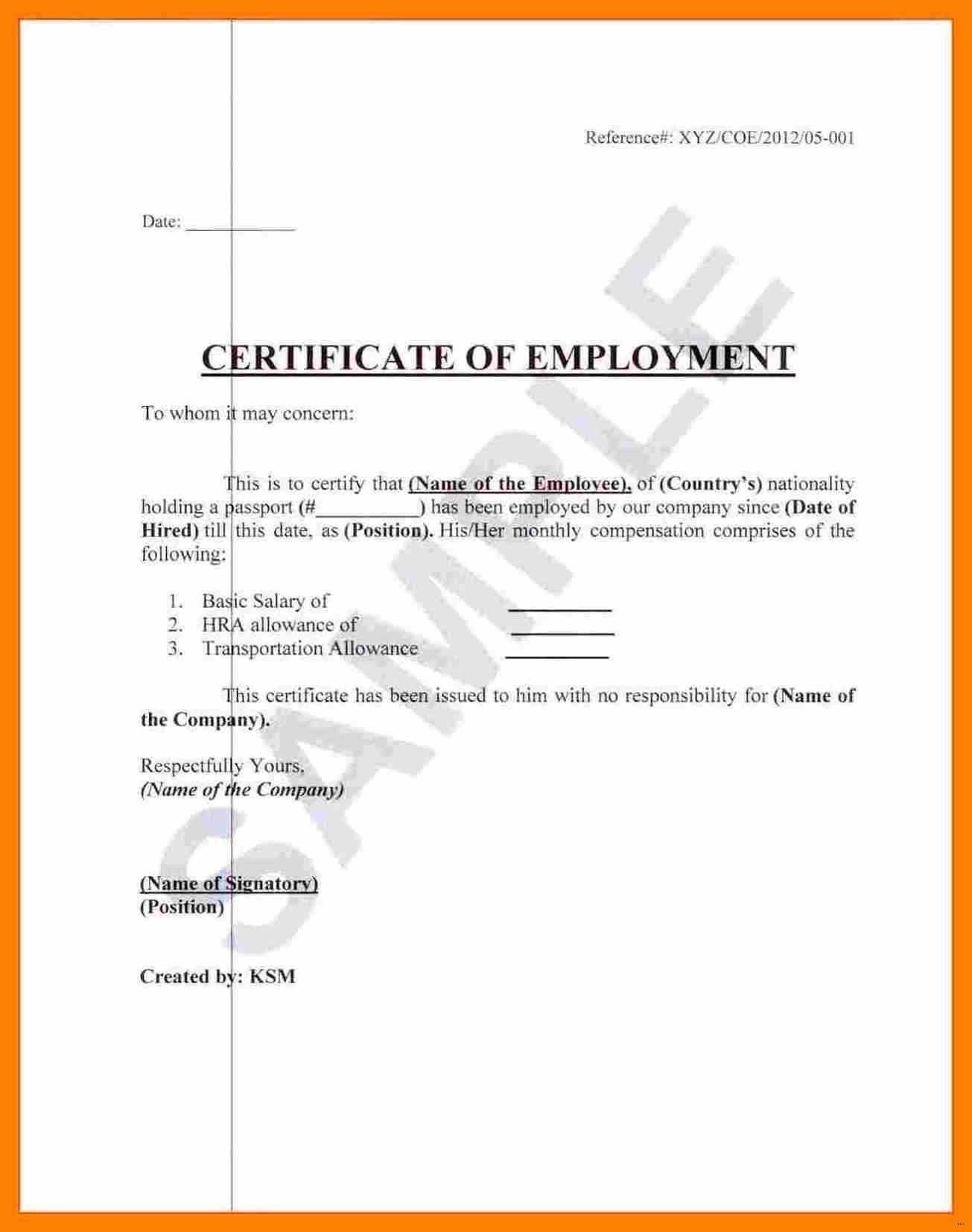 003 Template Ideas Certificate Of Employment Sample In Japan Inside Employee Certificate Of Service Template
