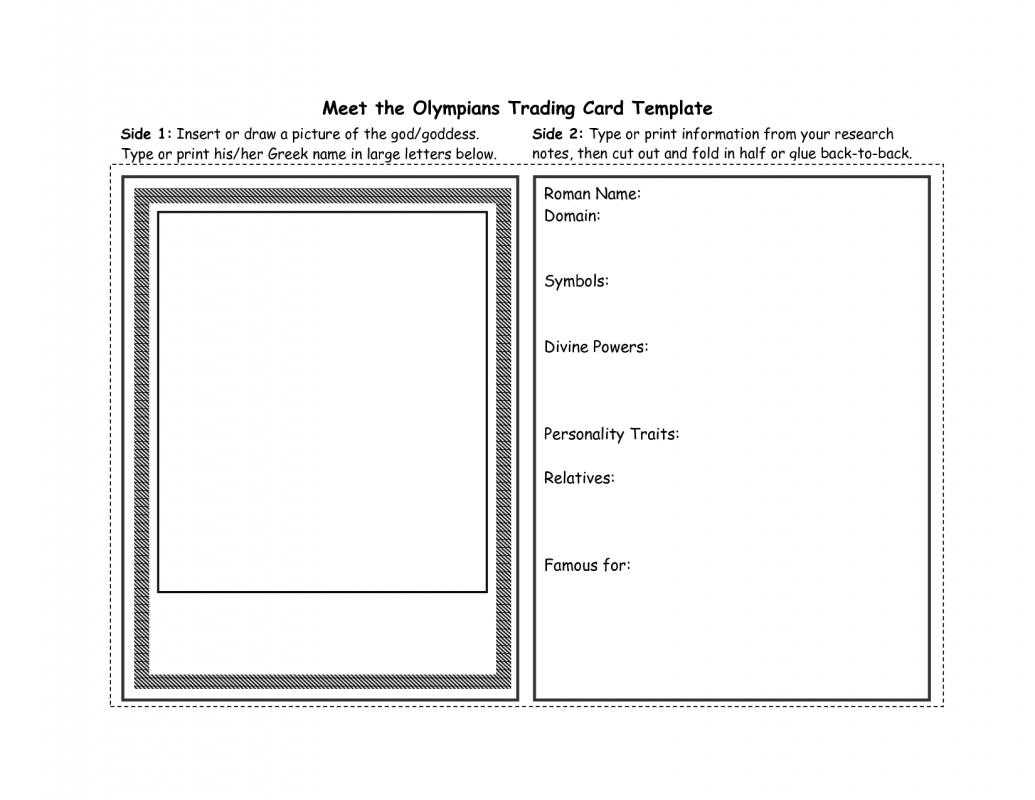 003 Trading Card Maker Free Printable Template Ideas Cards Within Trading Card Template Word