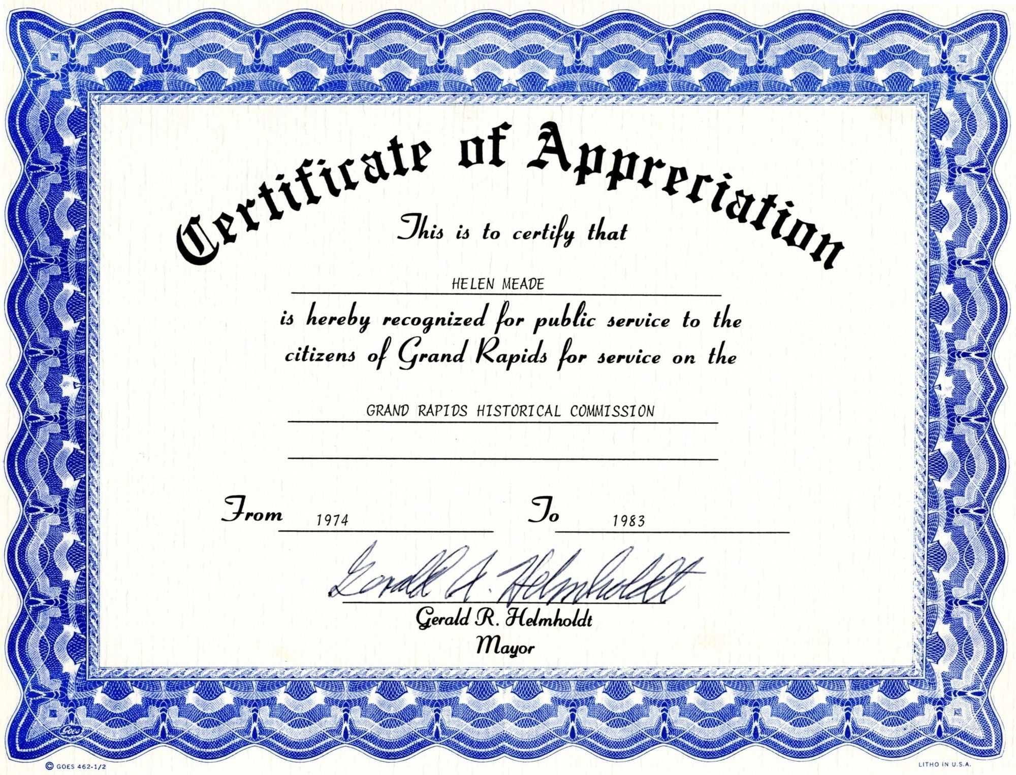 004 Certificates Of Appreciation Templates Template Awesome With Regard To Christian Certificate Template