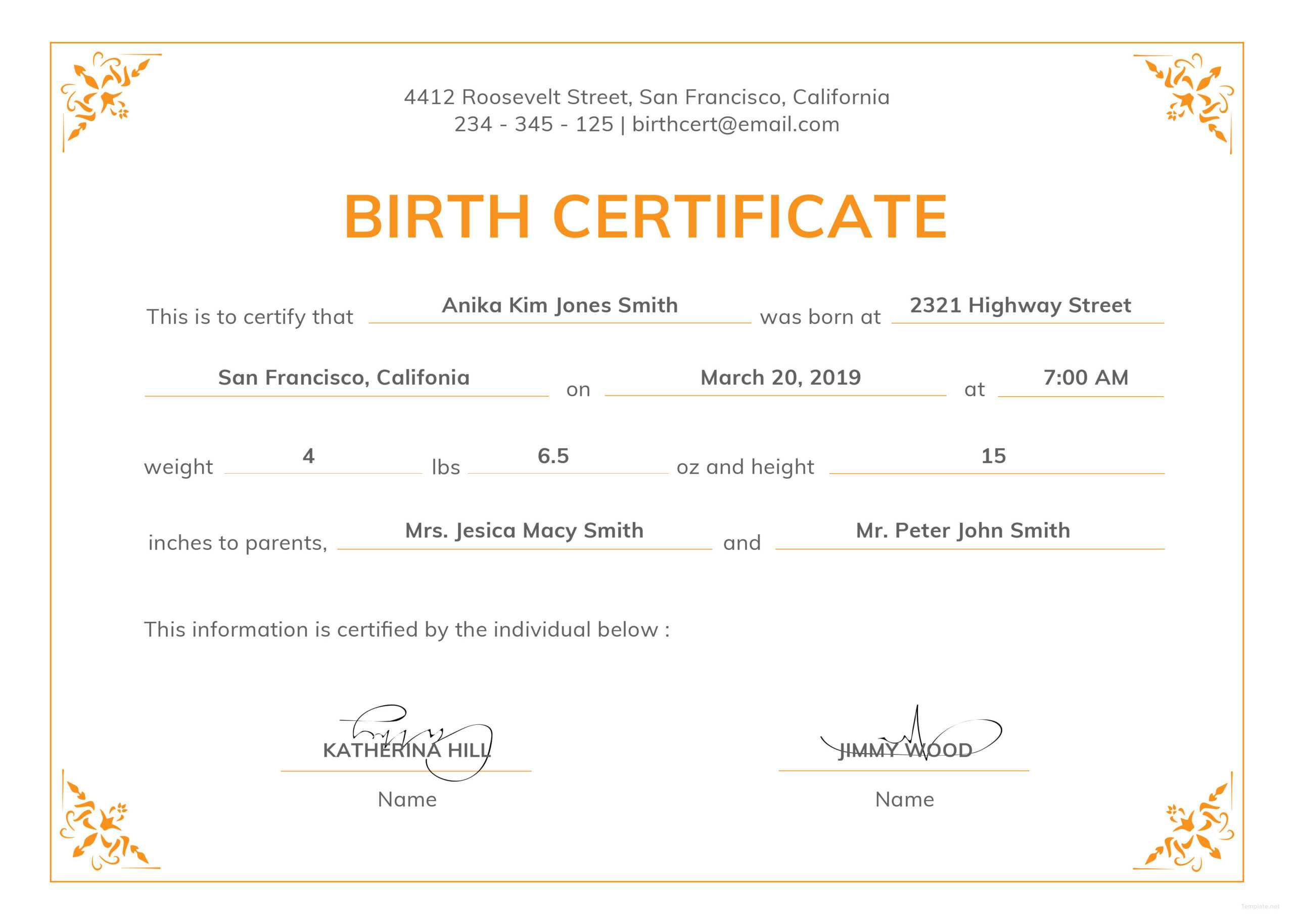 005 Official Birth Certificateplate Or Full Uk With Texas Regarding Birth Certificate Template Uk