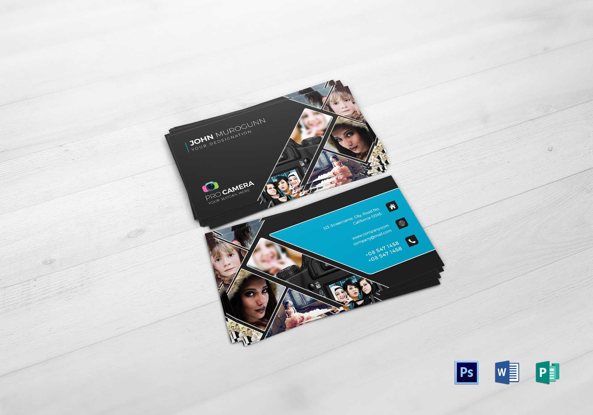 005 Photography Business Card Template Photoshop Awesome Throughout Photography Business Card Template Photoshop