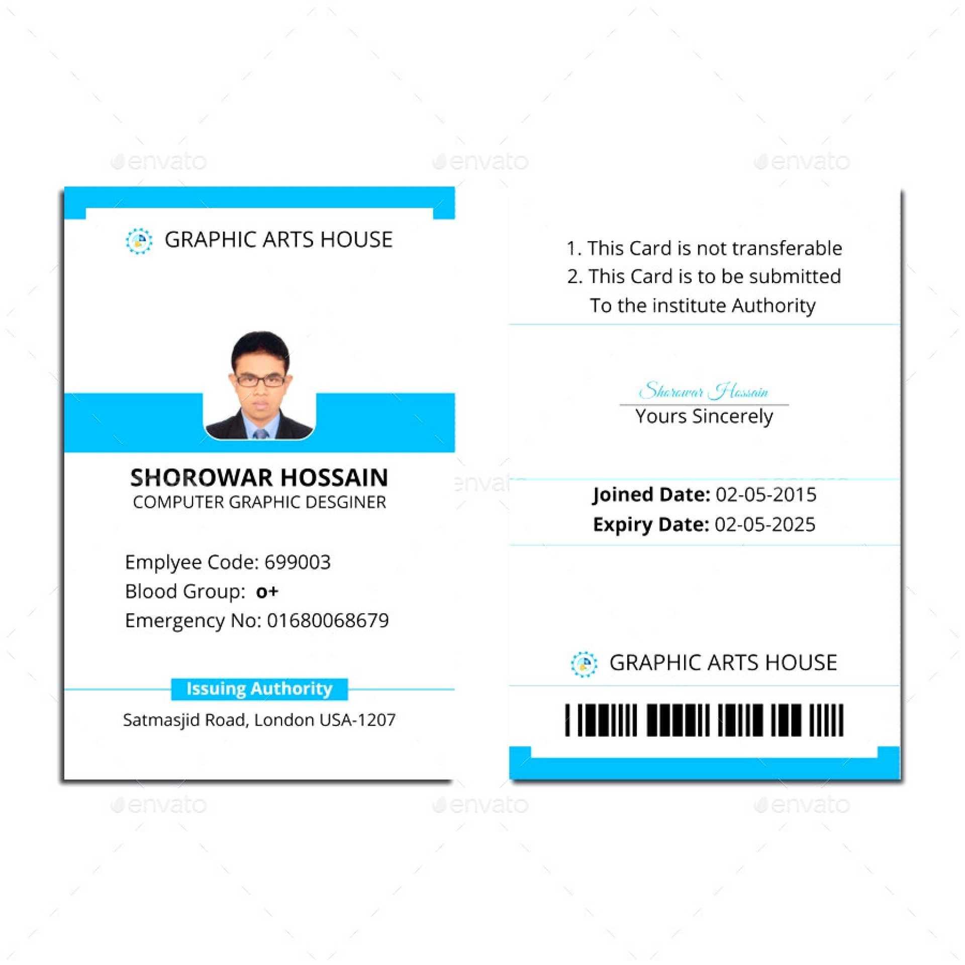 006 Id Card Template Word Ideas 1920X1920 Employee Microsoft Within Free Id Card Template Word