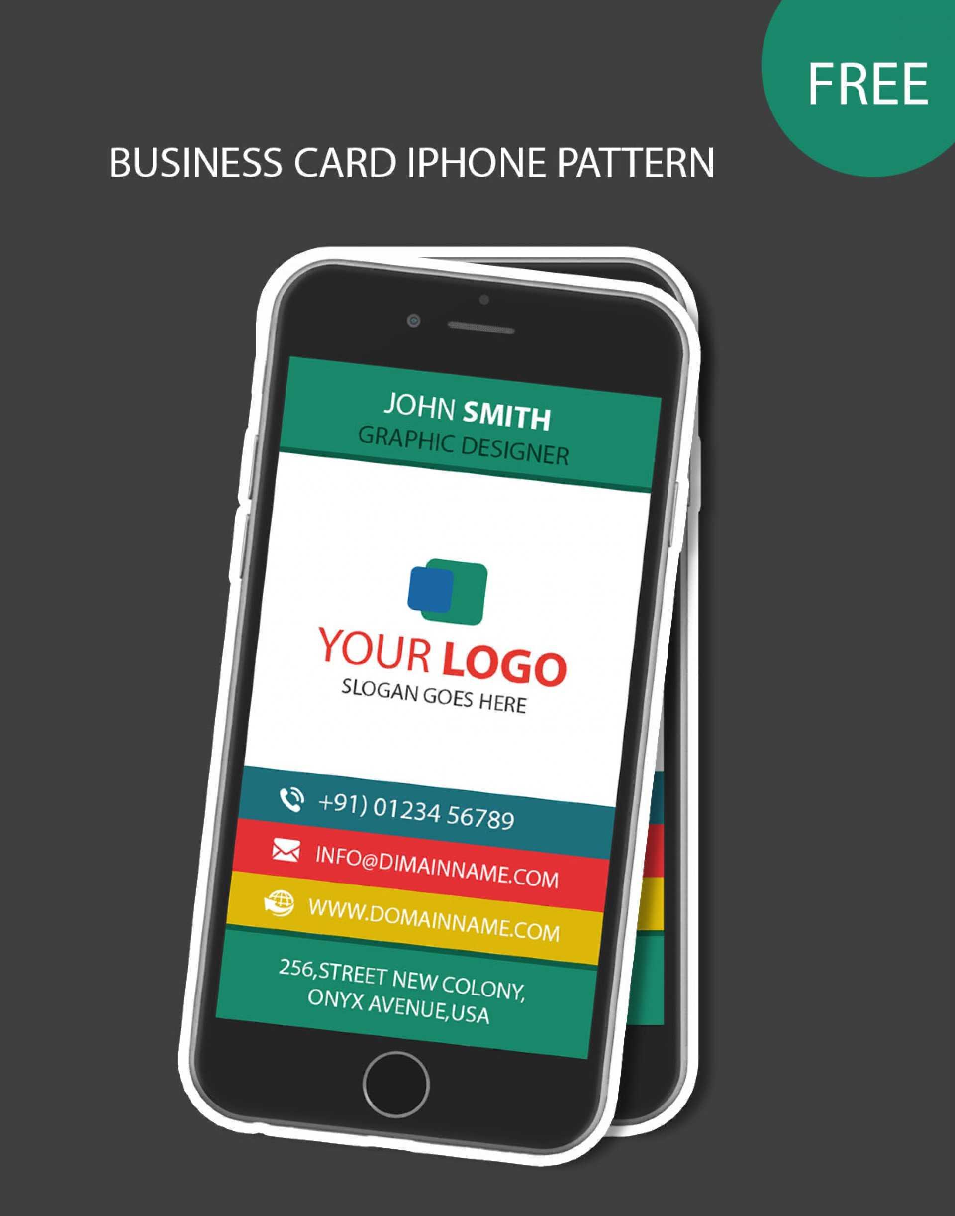 006 Iphone Business Card Template Unusual Ideas Free Psd Throughout Iphone Business Card Template