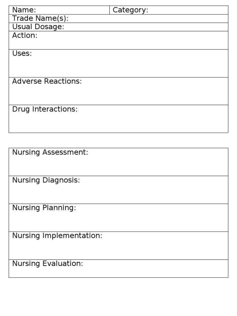 006 Nursing Drug Card Template Staggering Ideas Student Inside Pharmacology Drug Card Template