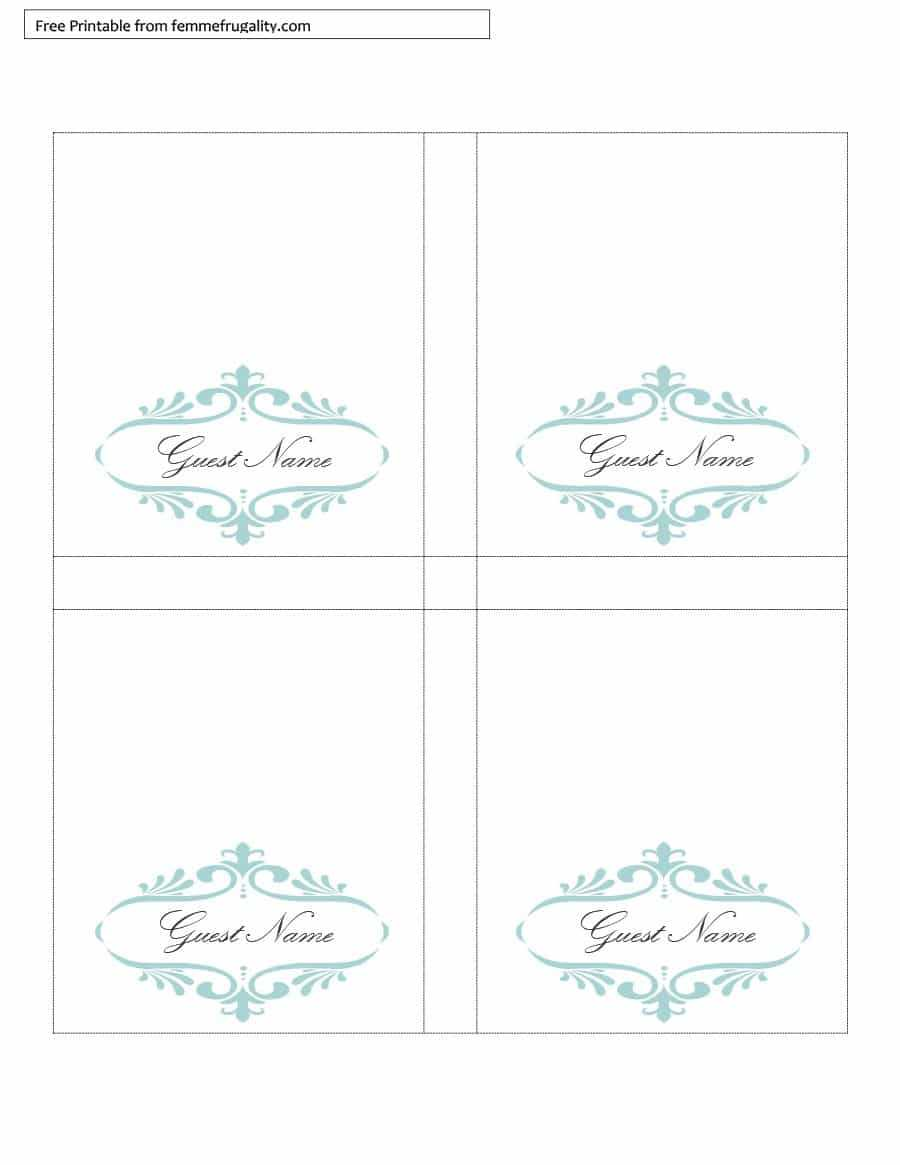 006 Table Place Card Template Free Download Ideas Tent Regarding Free Place Card Templates Download