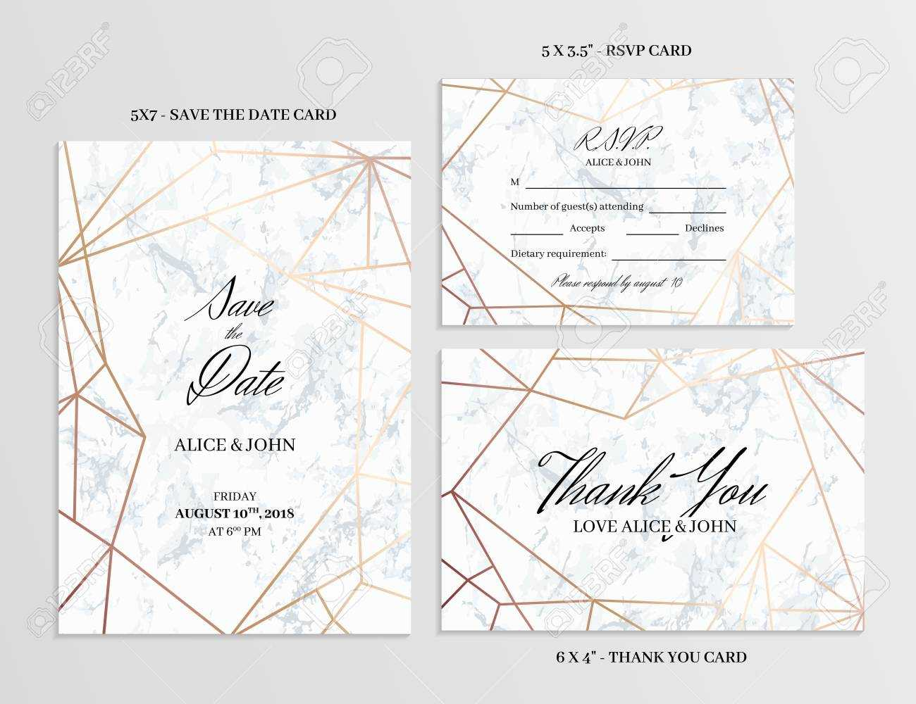 006 Wedding Set Save The Date Thank You And R S V P Cards Within Template For Rsvp Cards For Wedding