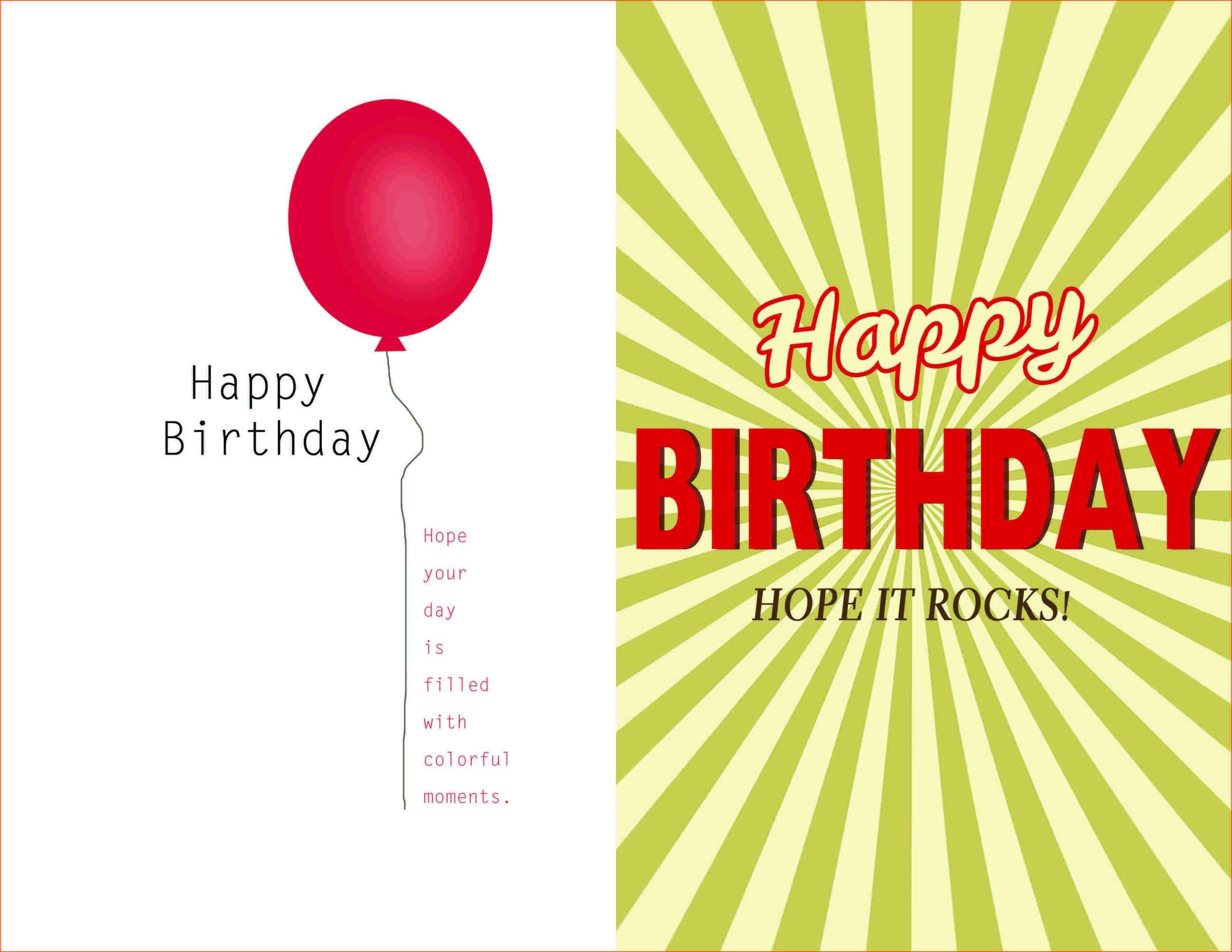 007 Template Ideas Creative Birthday Invitation Quarter Fold Inside Microsoft Word Birthday Card Template