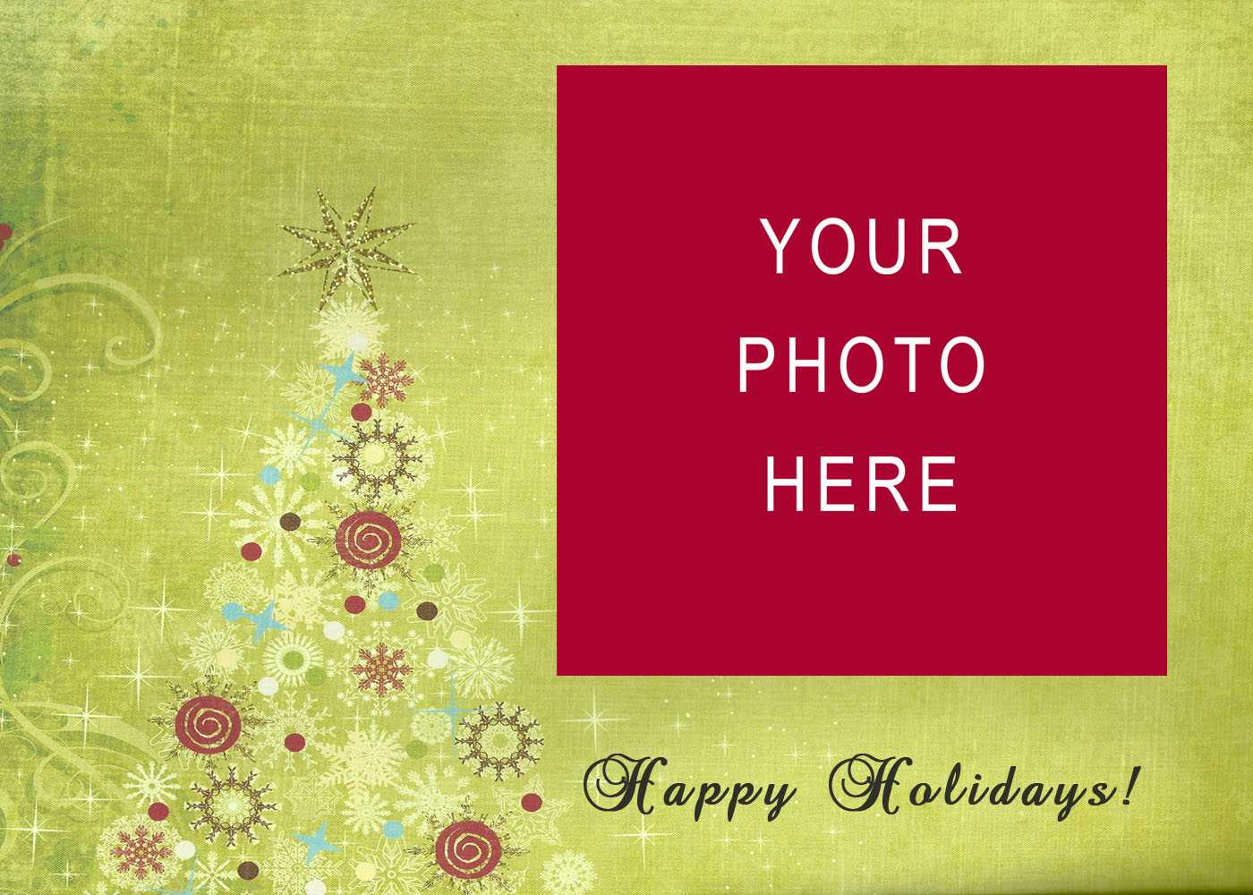 008 Christmas Card Templates Free Download Images In Photo Inside Happy Holidays Card Template