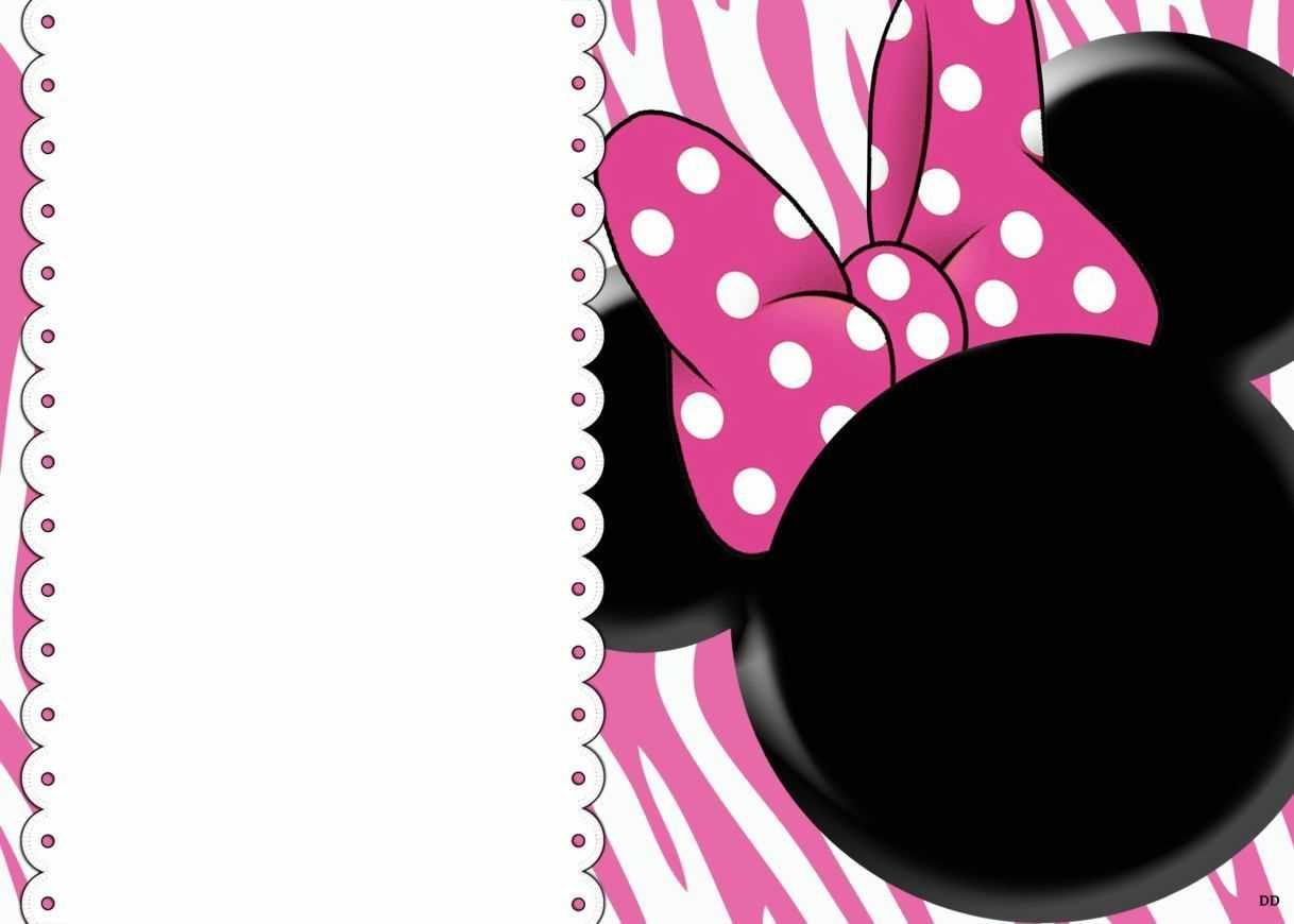 008 Minnie Mouse Birthday Invitation Template Ideas Striking For Minnie Mouse Card Templates