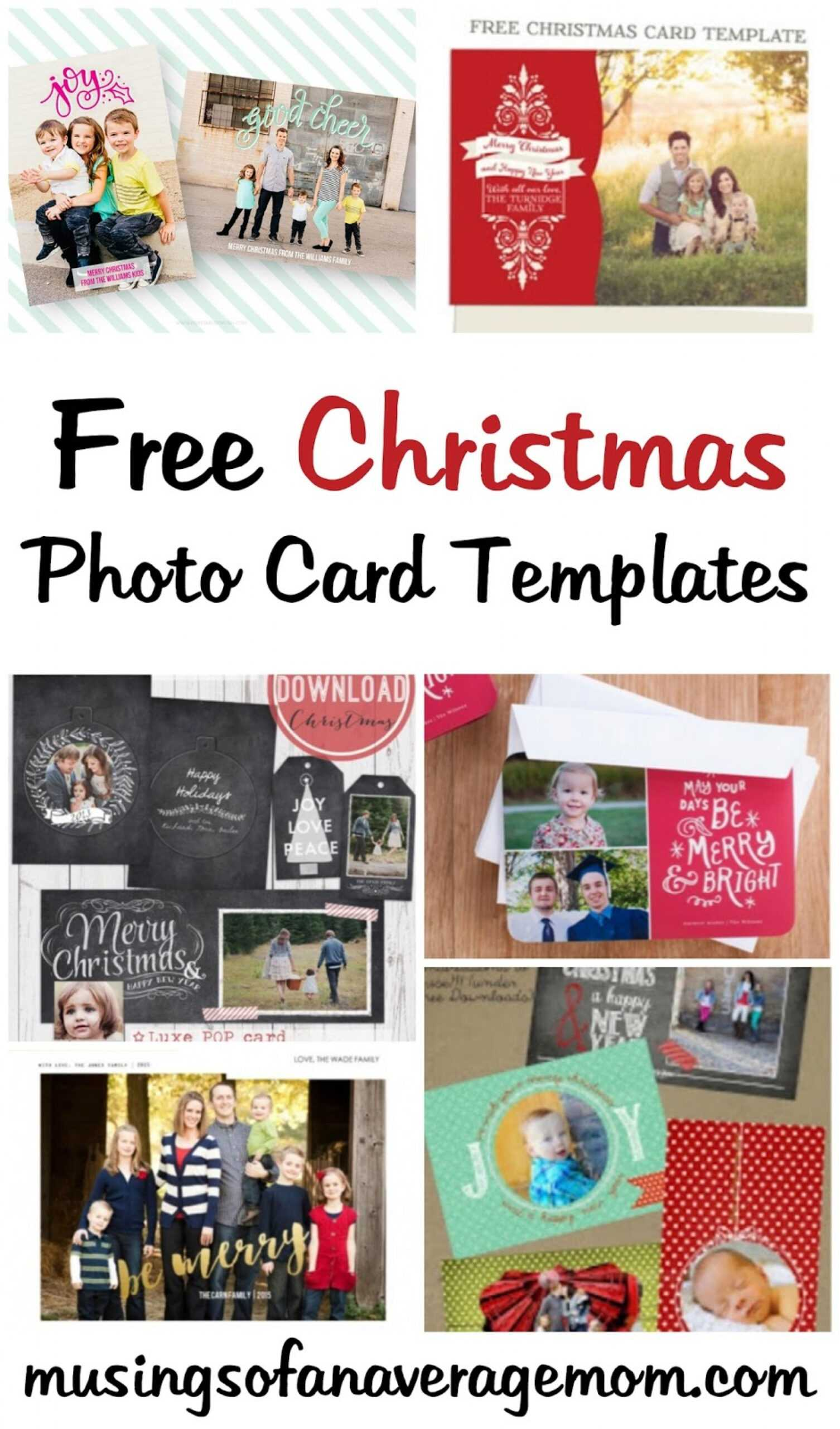 009 Photo Christmas Card Templates Template Unusual Ideas Intended For Free Christmas Card Templates For Photographers
