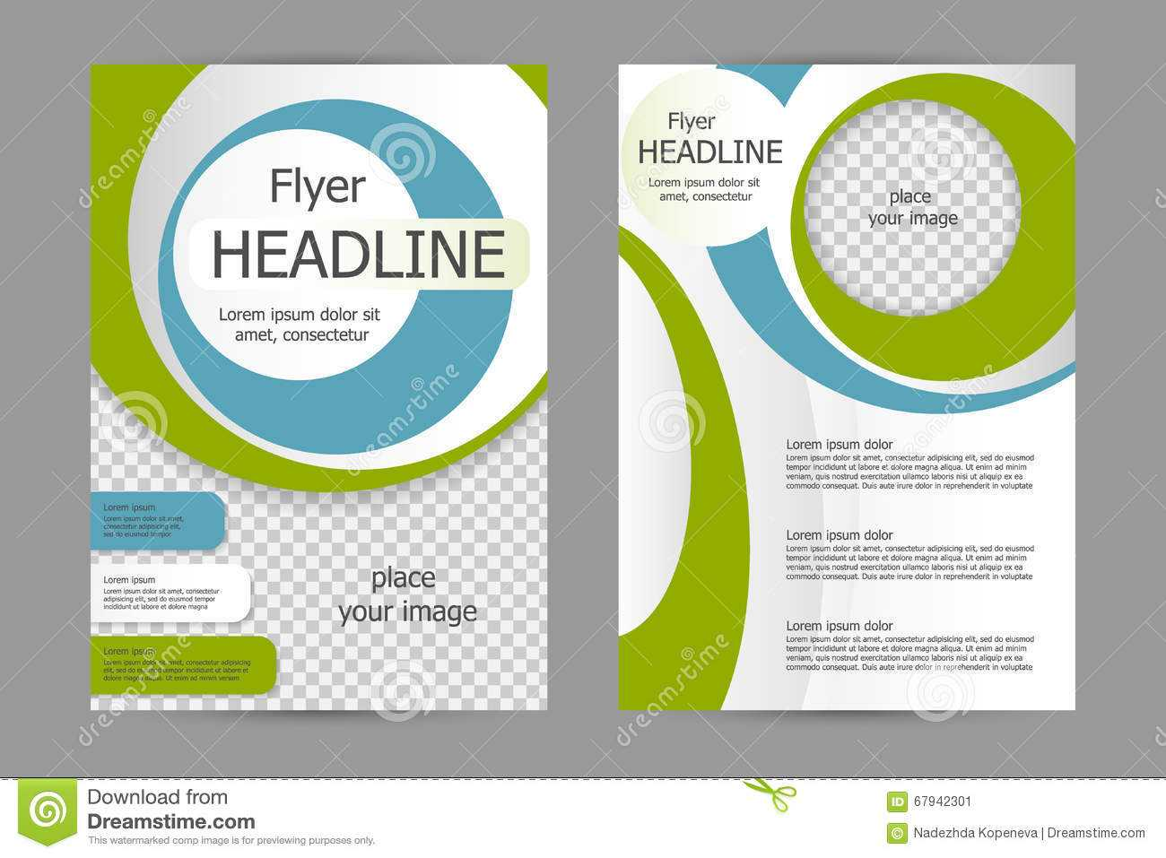 009 Vector Flyer Template Design Business Brochure Leaflet Intended For Training Brochure Template