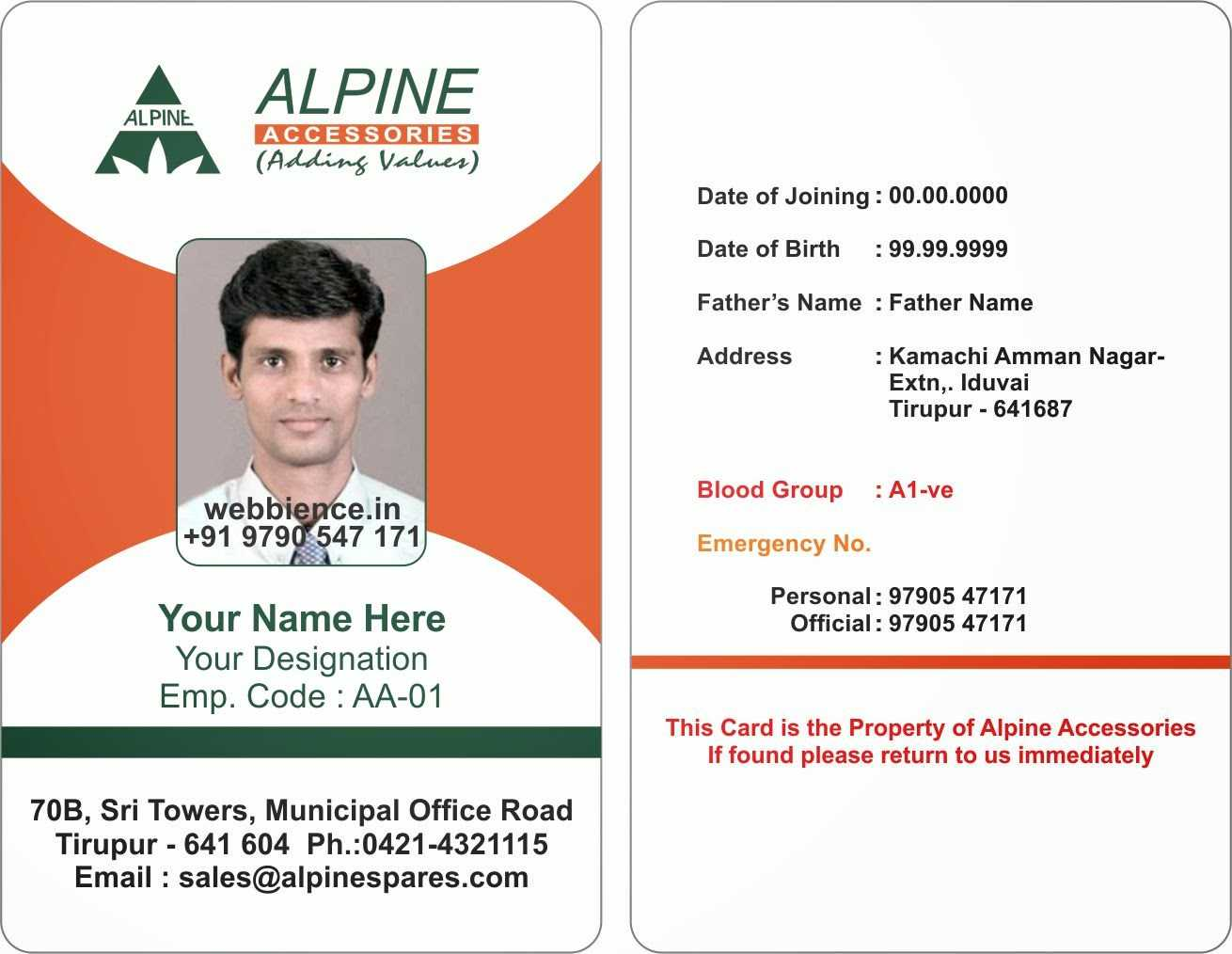 010 Employee Id Card Template Free Download Word Wonderful Throughout Employee Card Template Word