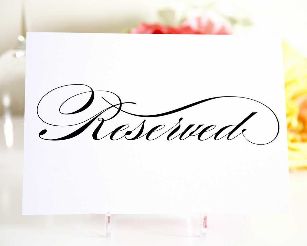 010 Free Printable Reserved Table Signs Template Of Best Inside Reserved Cards For Tables Templates