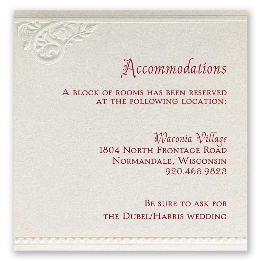 010 Wedding Invitation Information Card Wording In English Inside Wedding Hotel Information Card Template