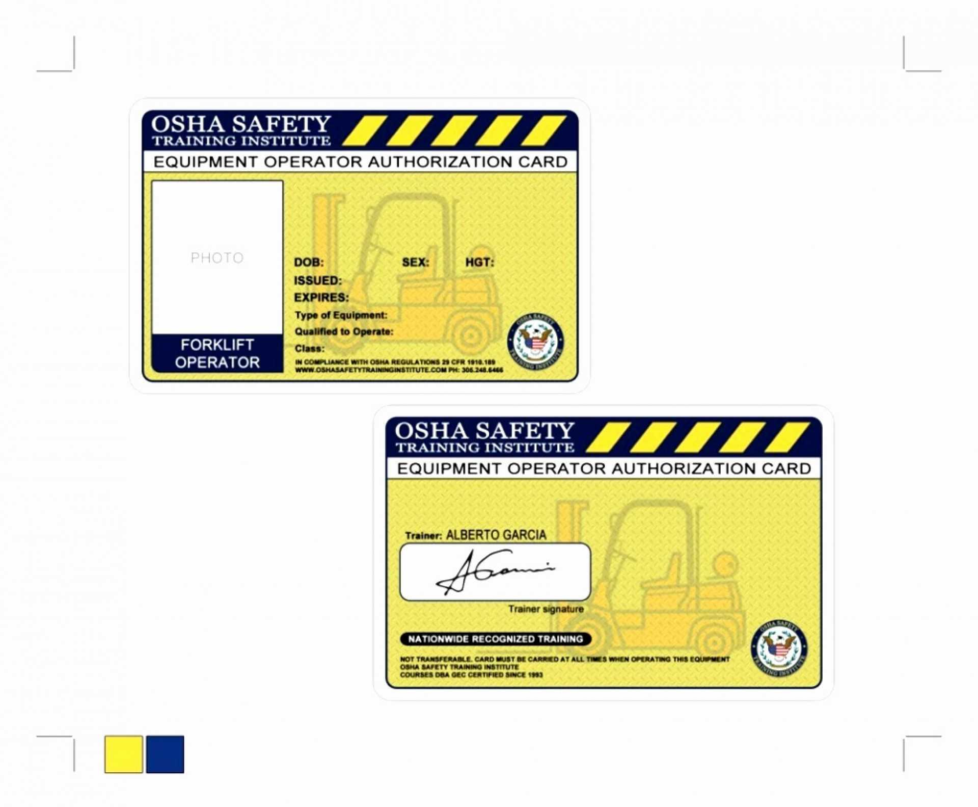 011 Free Printable Forklift License Template Then Throughout Forklift Certification Card Template