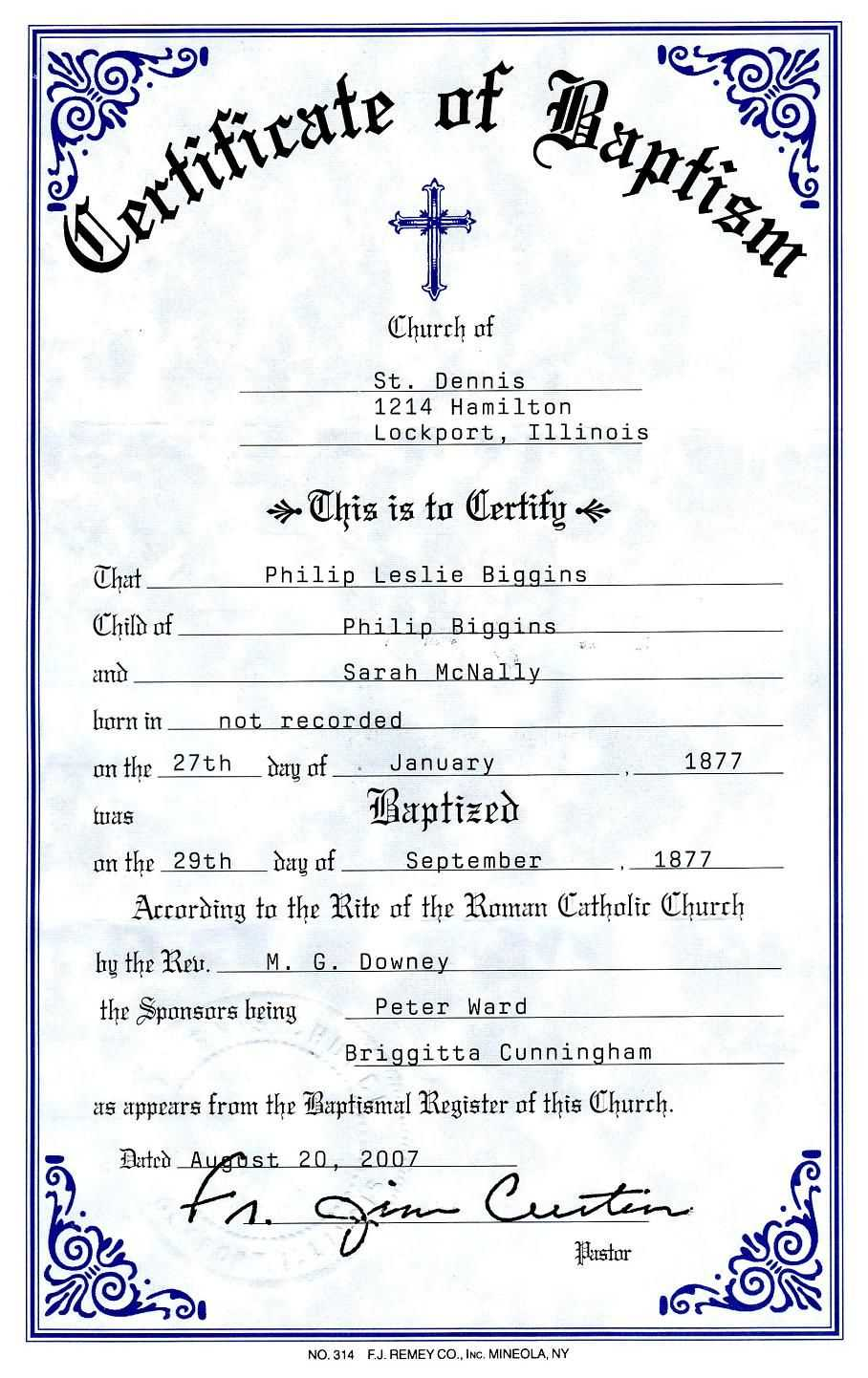 012 Certificate Of Baptism Template Unique Ideas Word Regarding Roman Catholic Baptism Certificate Template