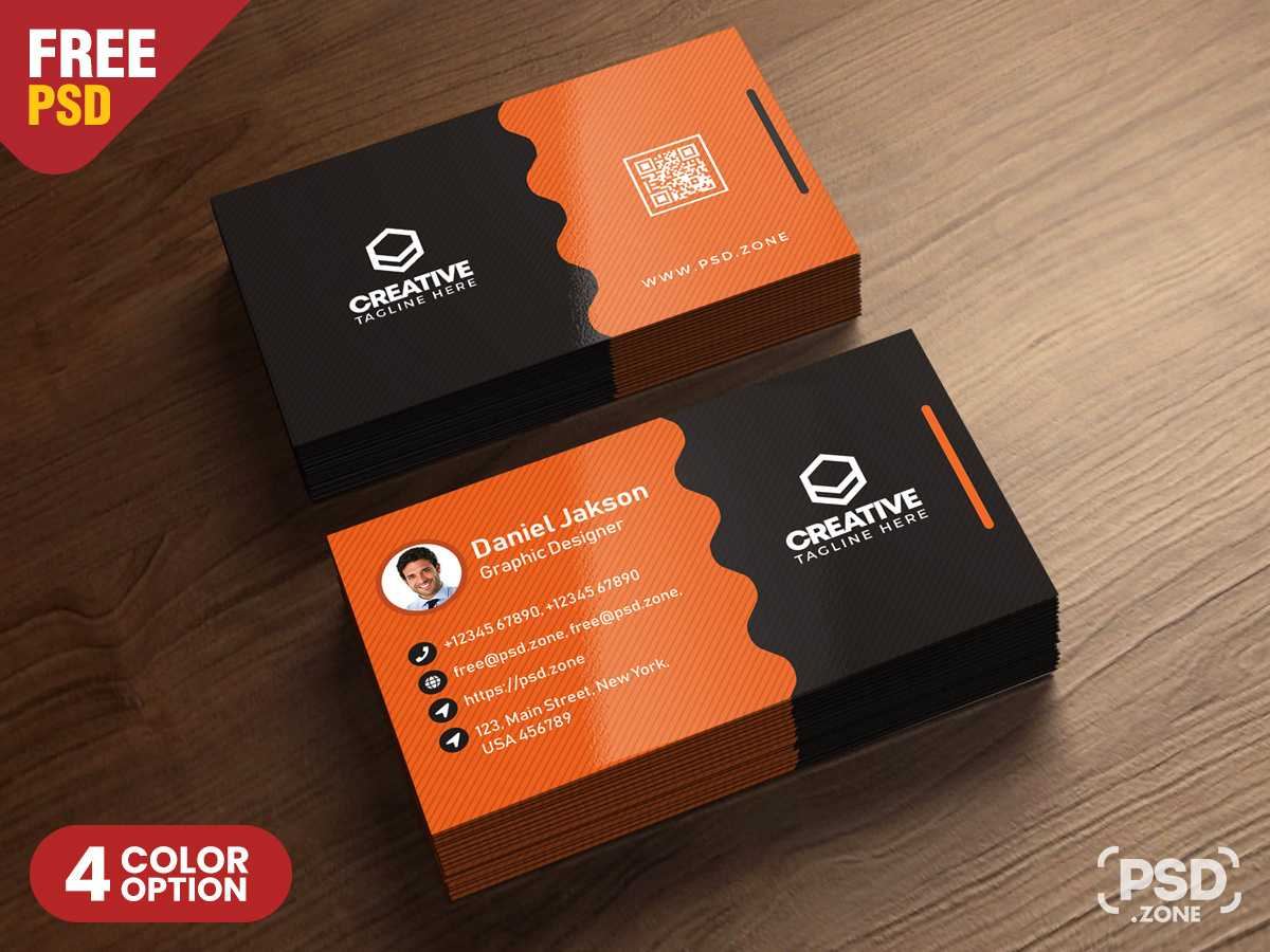 012 Clean Business Card Psd Templates Free Photoshop Within Name Card Photoshop Template