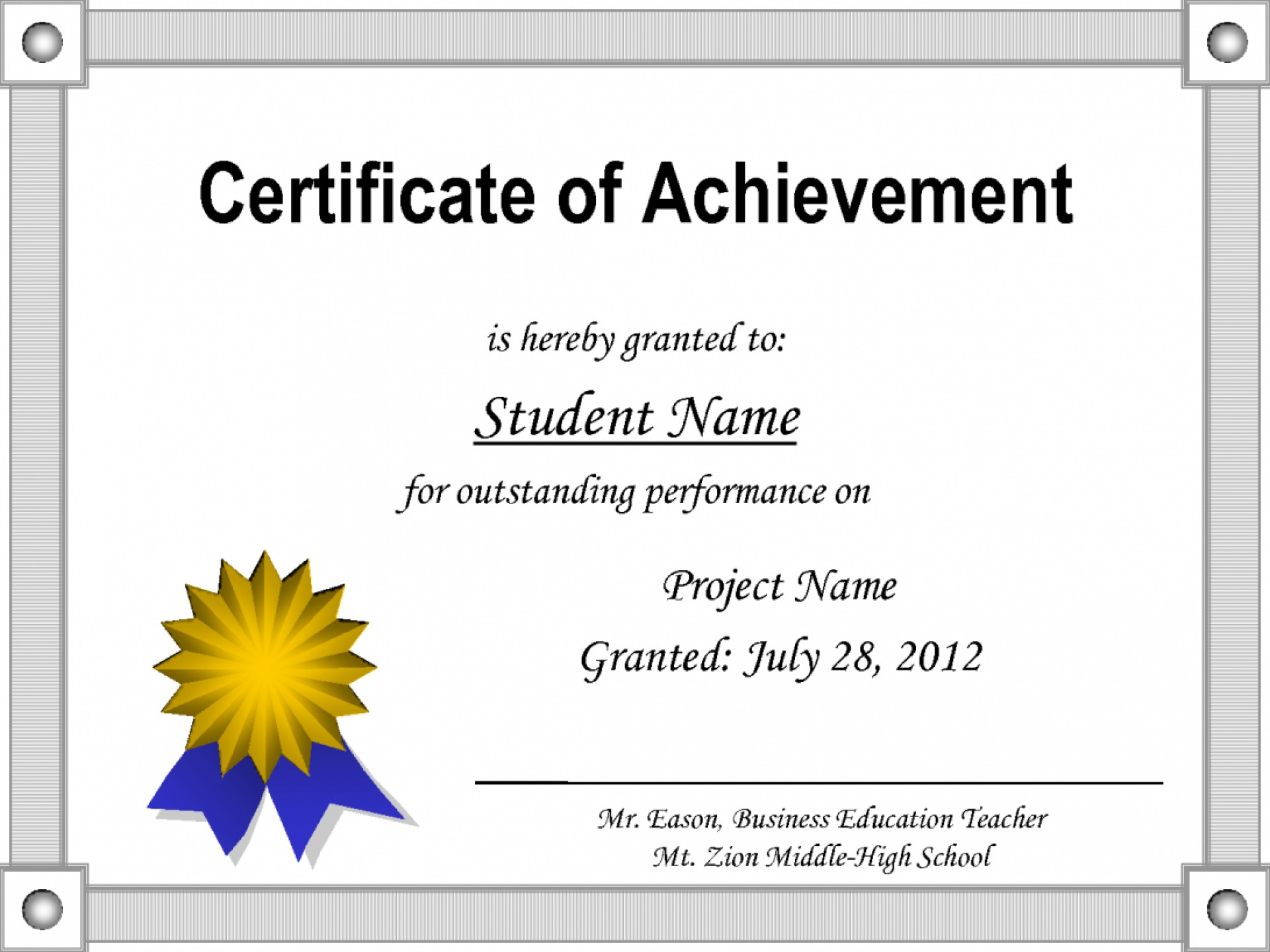 012 Template Ideas Certificate Award Microsoft Awesome Word Regarding Congratulations Certificate Word Template