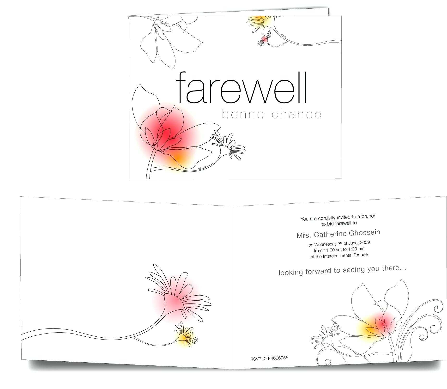 013 Boss Farewell Invitation Daily Motivational Quotes Send Throughout Goodbye Card Template