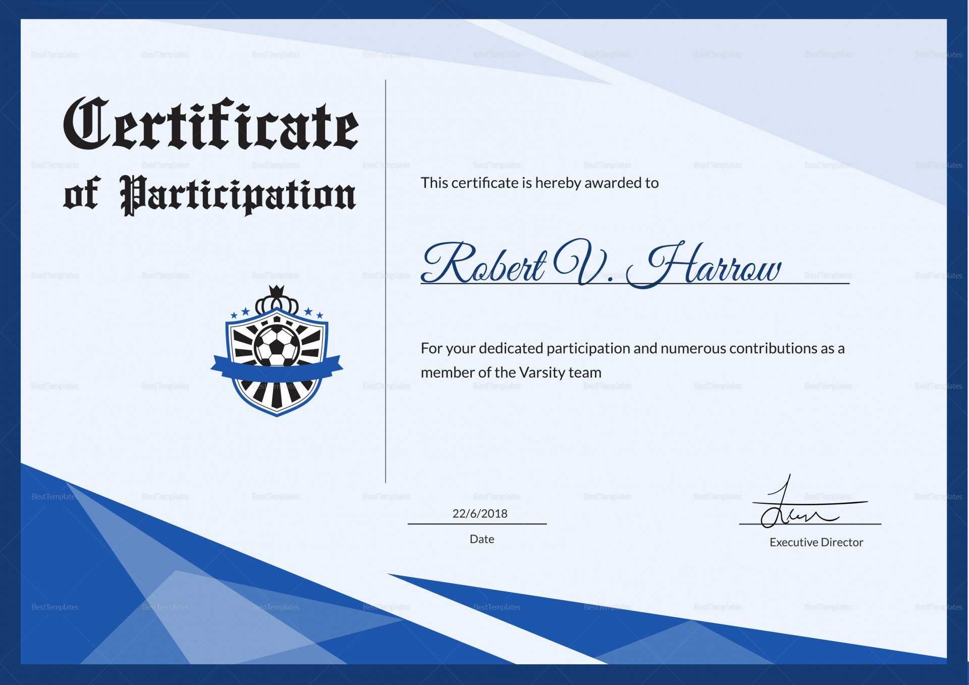 013 Sports Award Certificate Template Word Soccer Throughout Sports Award Certificate Template Word