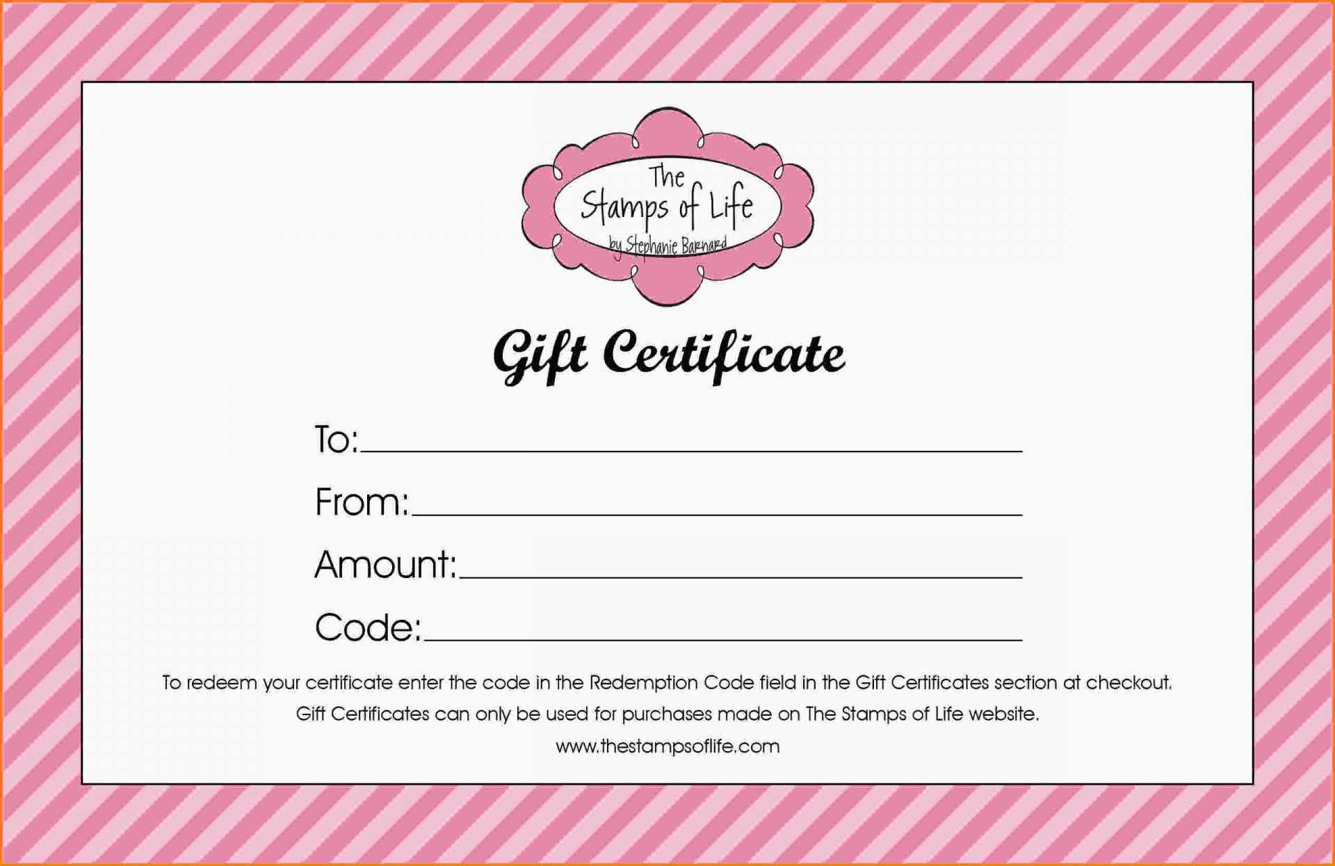 014 4076419 Homemade Gift Certificate Template Printable Inside Homemade Christmas Gift Certificates Templates