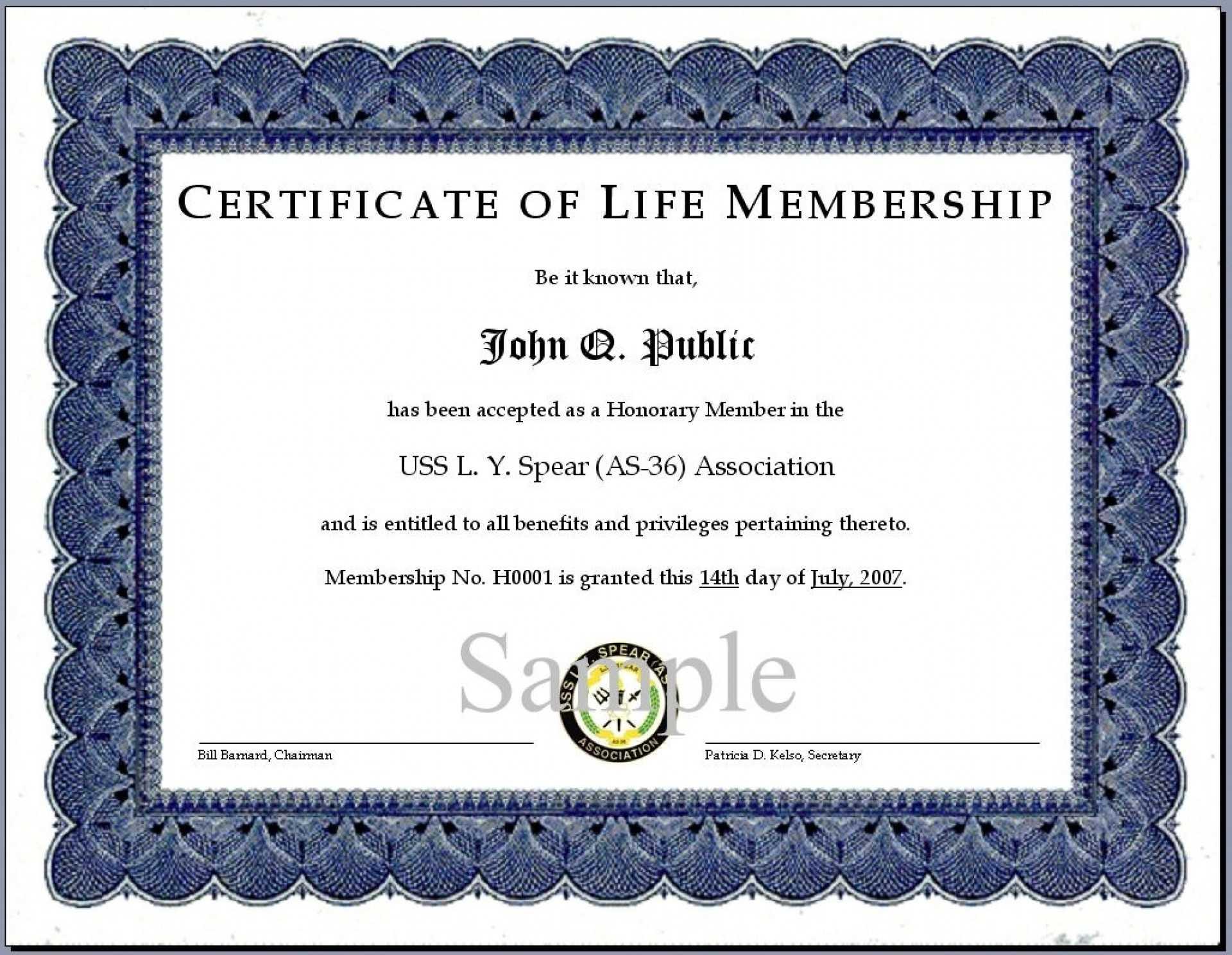 014 Church Transfer Letter Unique Llc Member Certificate Regarding Life Membership Certificate Templates
