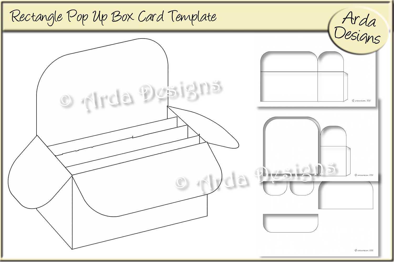 014 Rectangle Pop Up Box Card Cu Templatearda Designs Within Pop Up Box Card Template