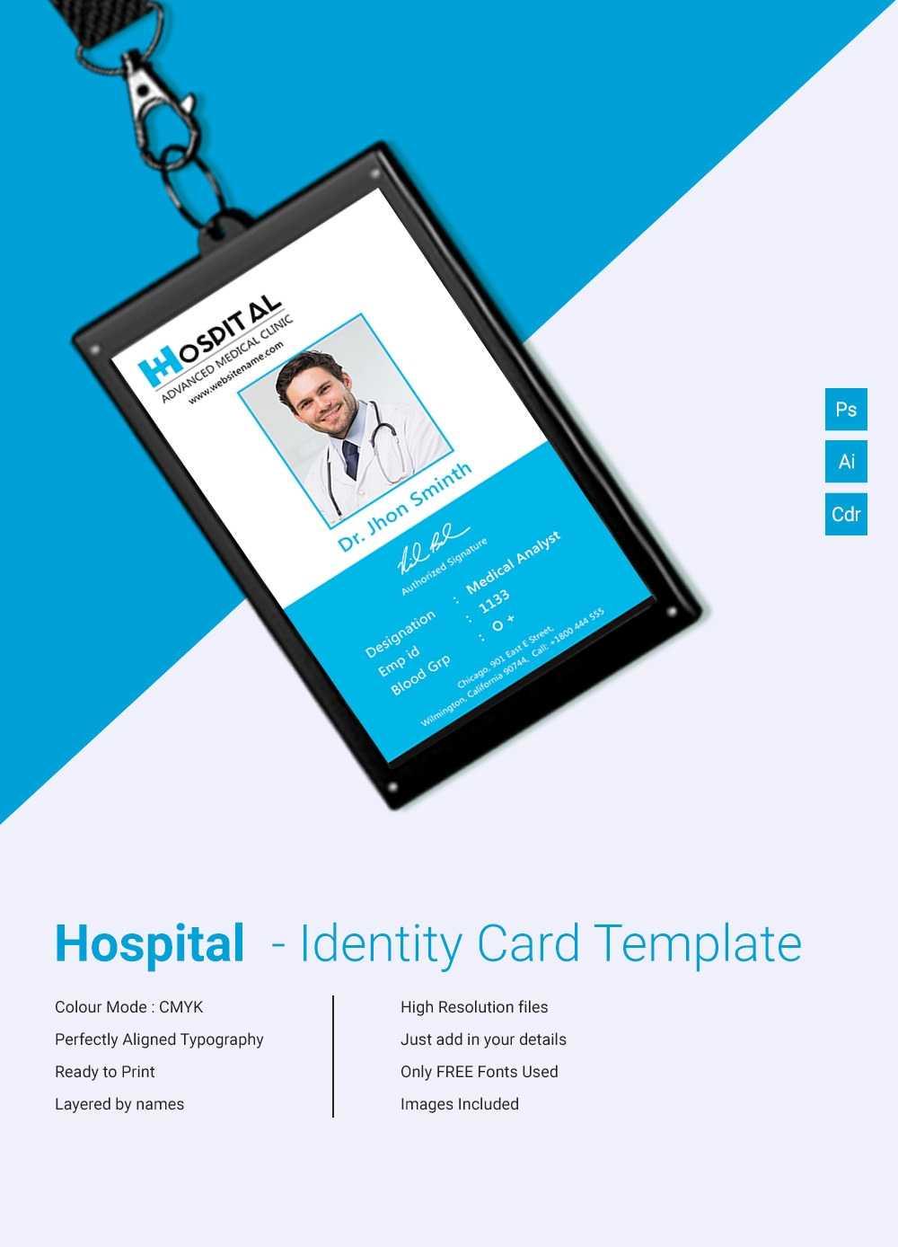 015 Template Ideas Free Printable Id Cards Templates Amazing Regarding Hospital Id Card Template