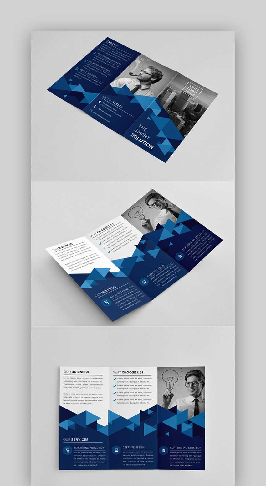 016 Tri Fold Brochure Template Indesign The Modern Intended For Tri Fold Brochure Template Indesign Free Download